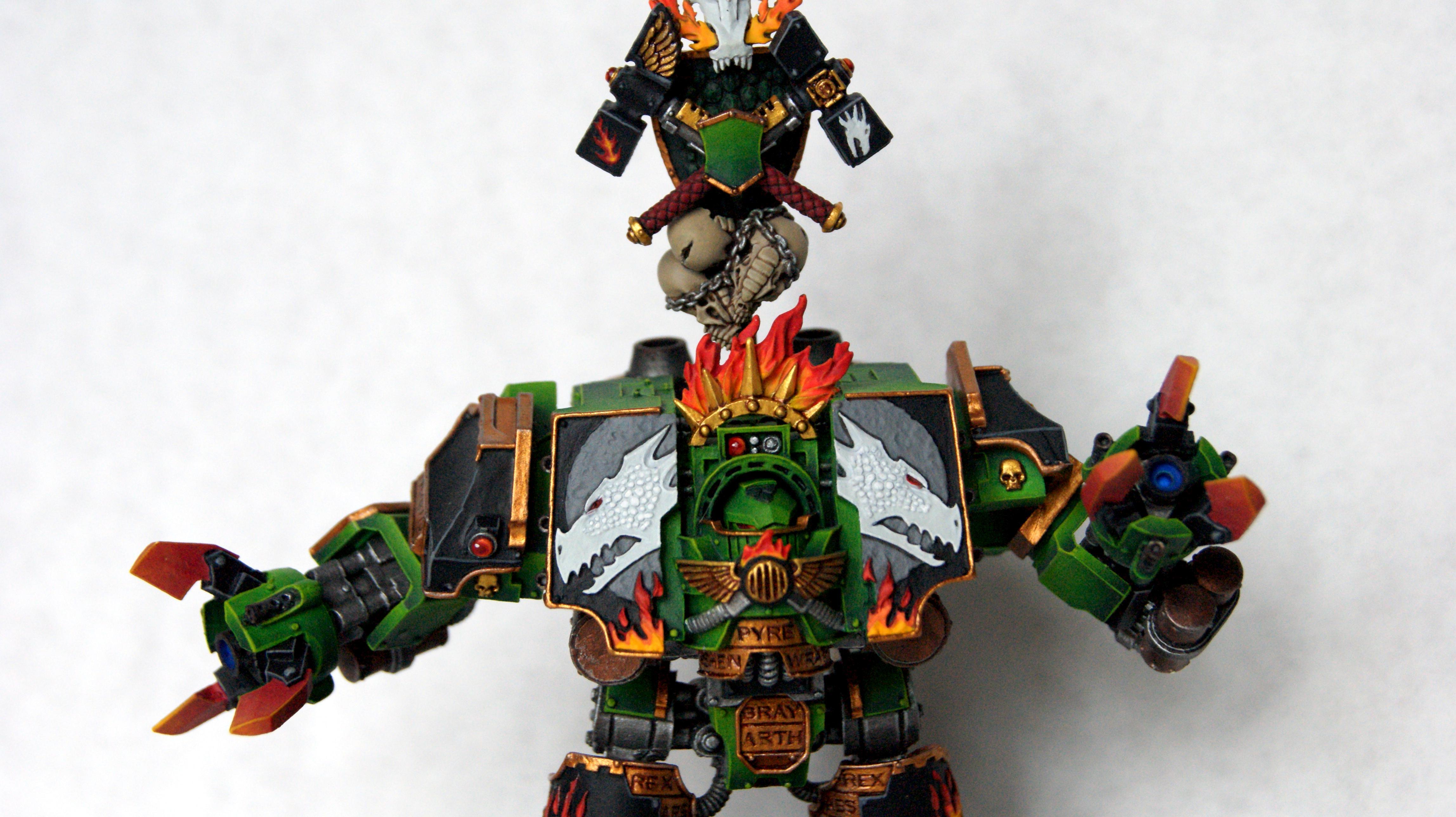 Bray'arth Ashmantle, Dreadnought, Forge World, Green, Salamanders, Space Marines, Warhammer 40,000