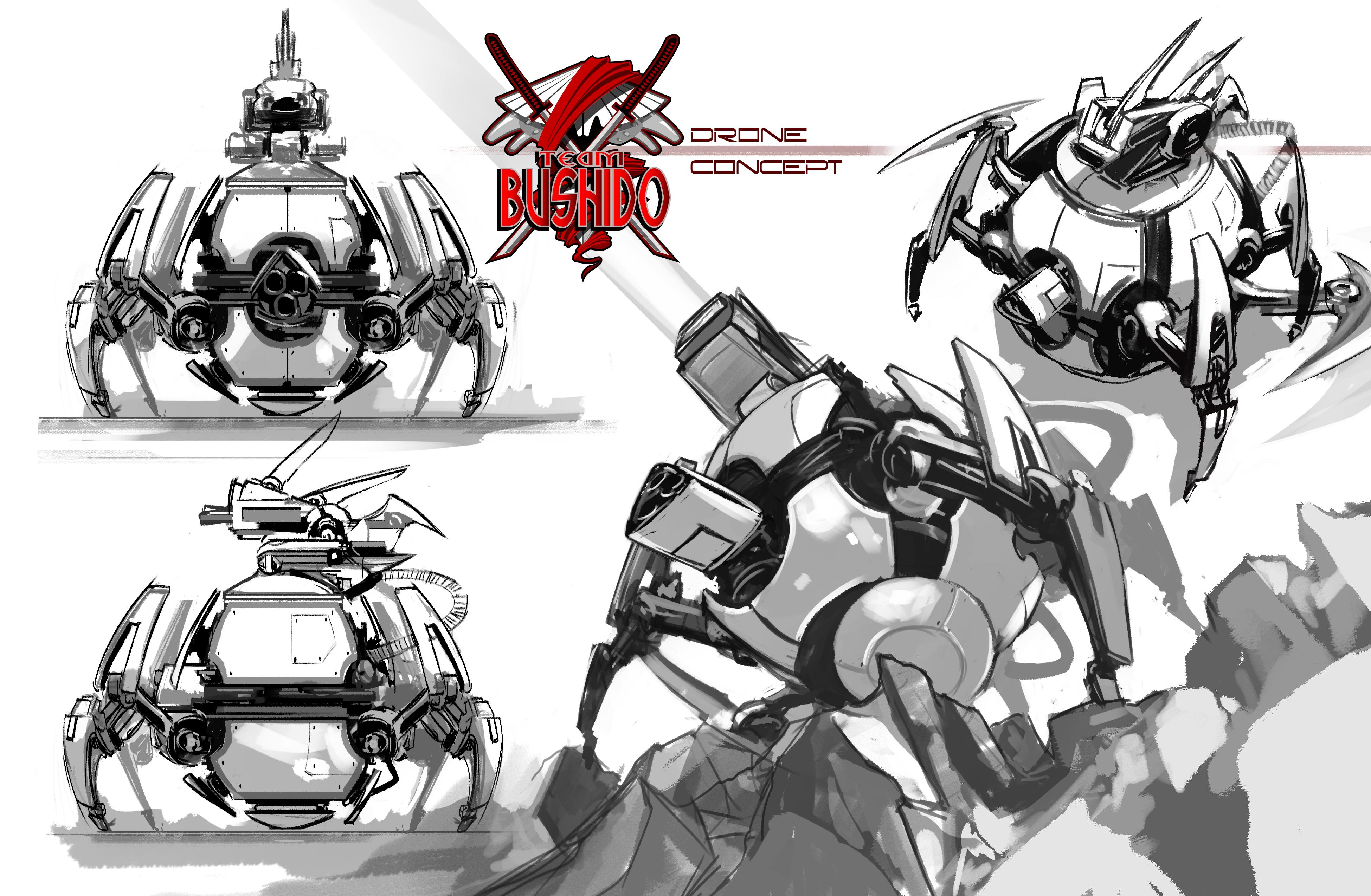 Team Bushido Drone Concept Art