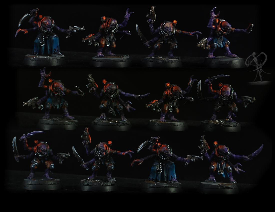 Deathwatch, Genesteader Cult, Genestealer, Hybrids, Non-Metallic Metal, Object Source Lighting, Overkill, Tyranids