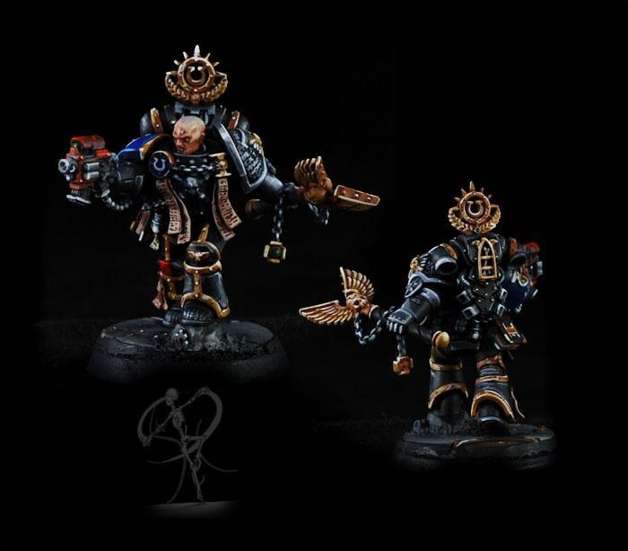 Chaplain, Deathwatch, Non-Metallic Metal, Overkill, Space Marines, Ultra Marines, Ultramarines