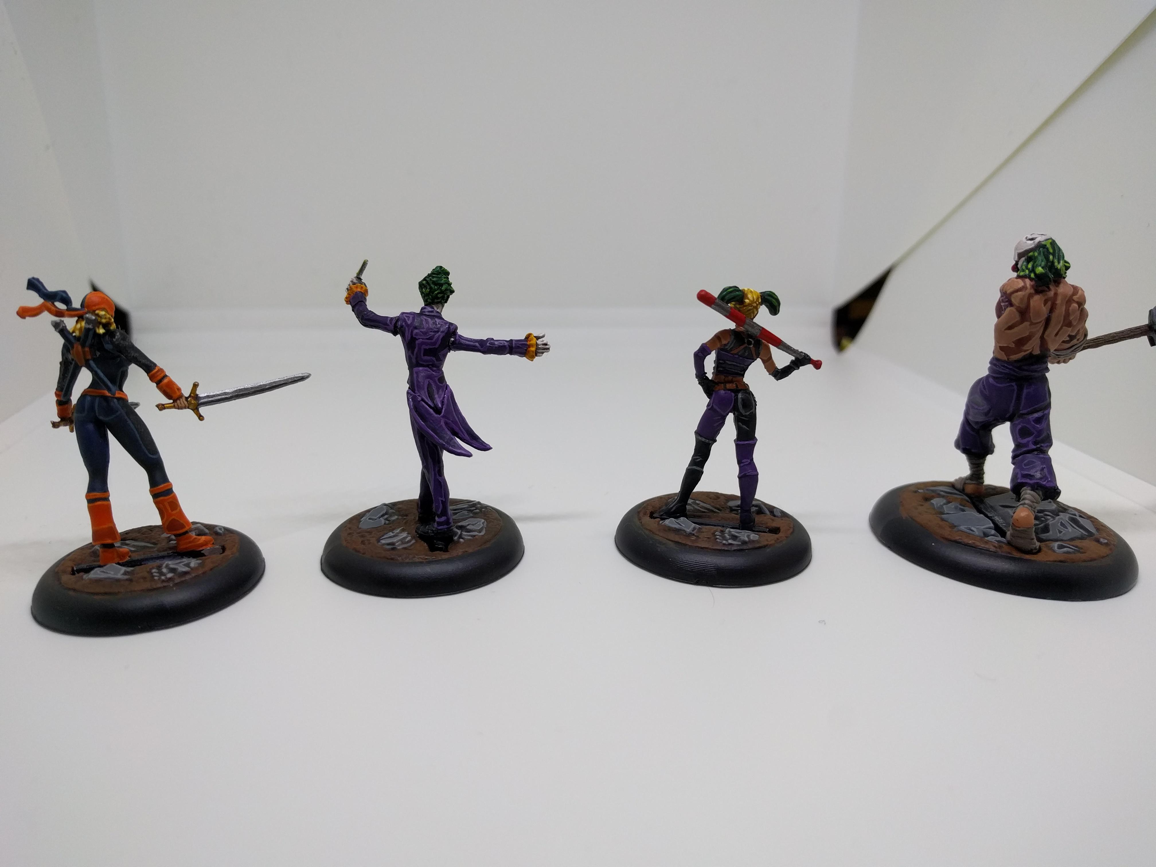 Batman, Harley Quinn, Joker, Knights, Ravager