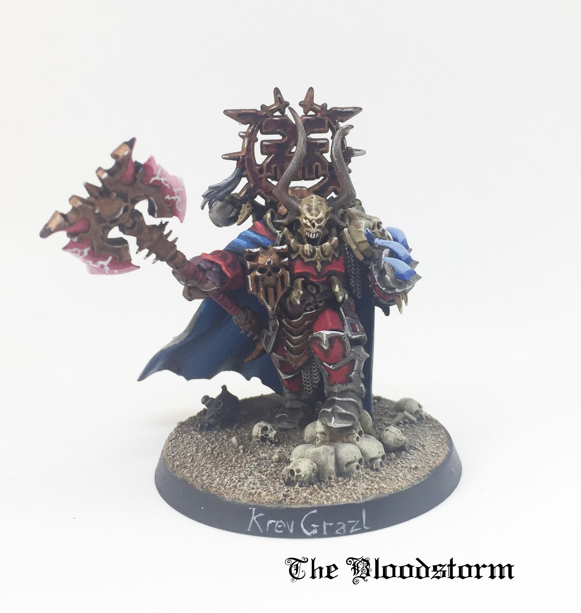 Champion, Chaos Lord, Chaos Space Marines, Khorne, Khorne Daemonkin, Kitbash, Lightning Claw, Warhammer 40,000, World Eaters