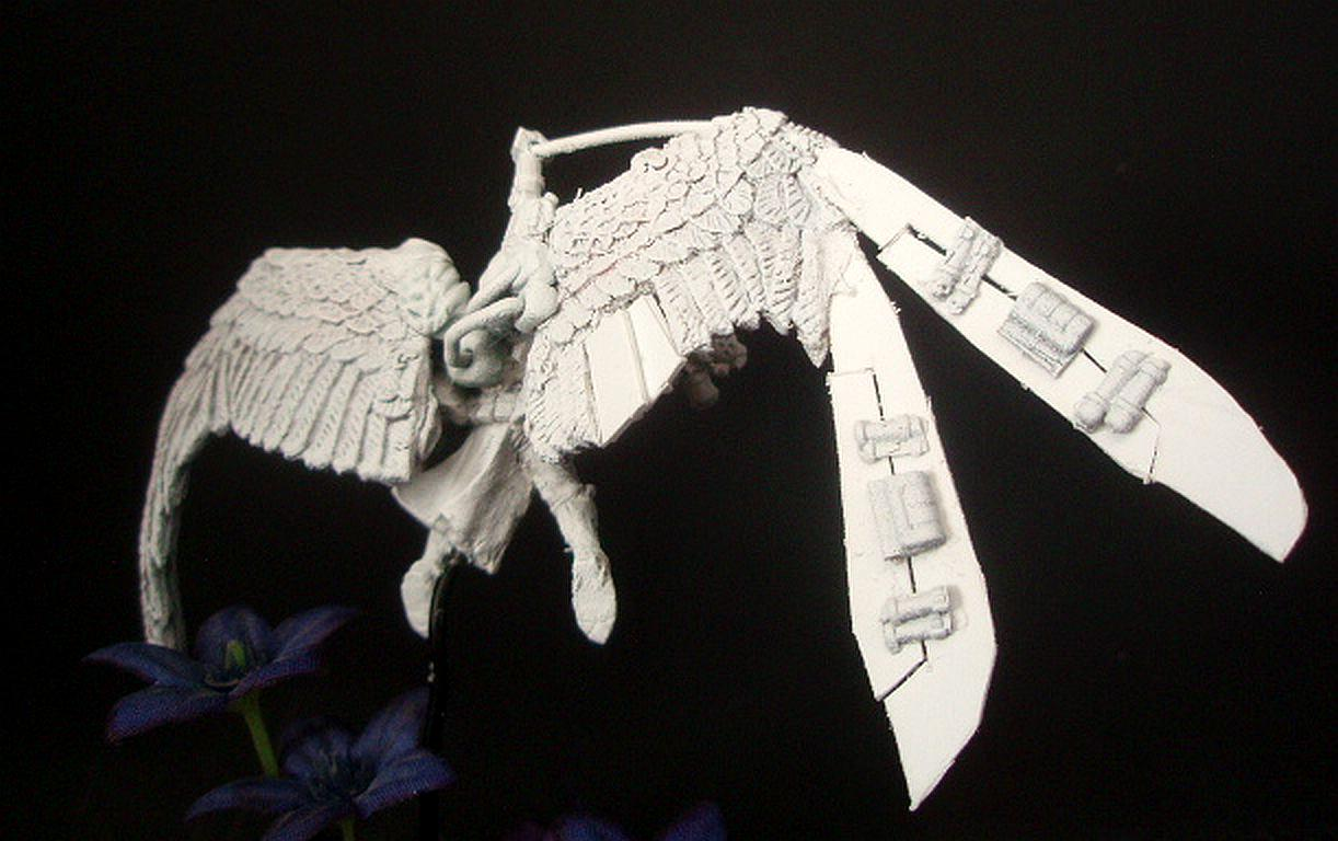 Sculpting, Seraphim, Seraphim Wings, Sister's Of Battle, Sisters Of Battle, Sororitas, St Celestine Sculpt, St Celestine Wings, Winged
