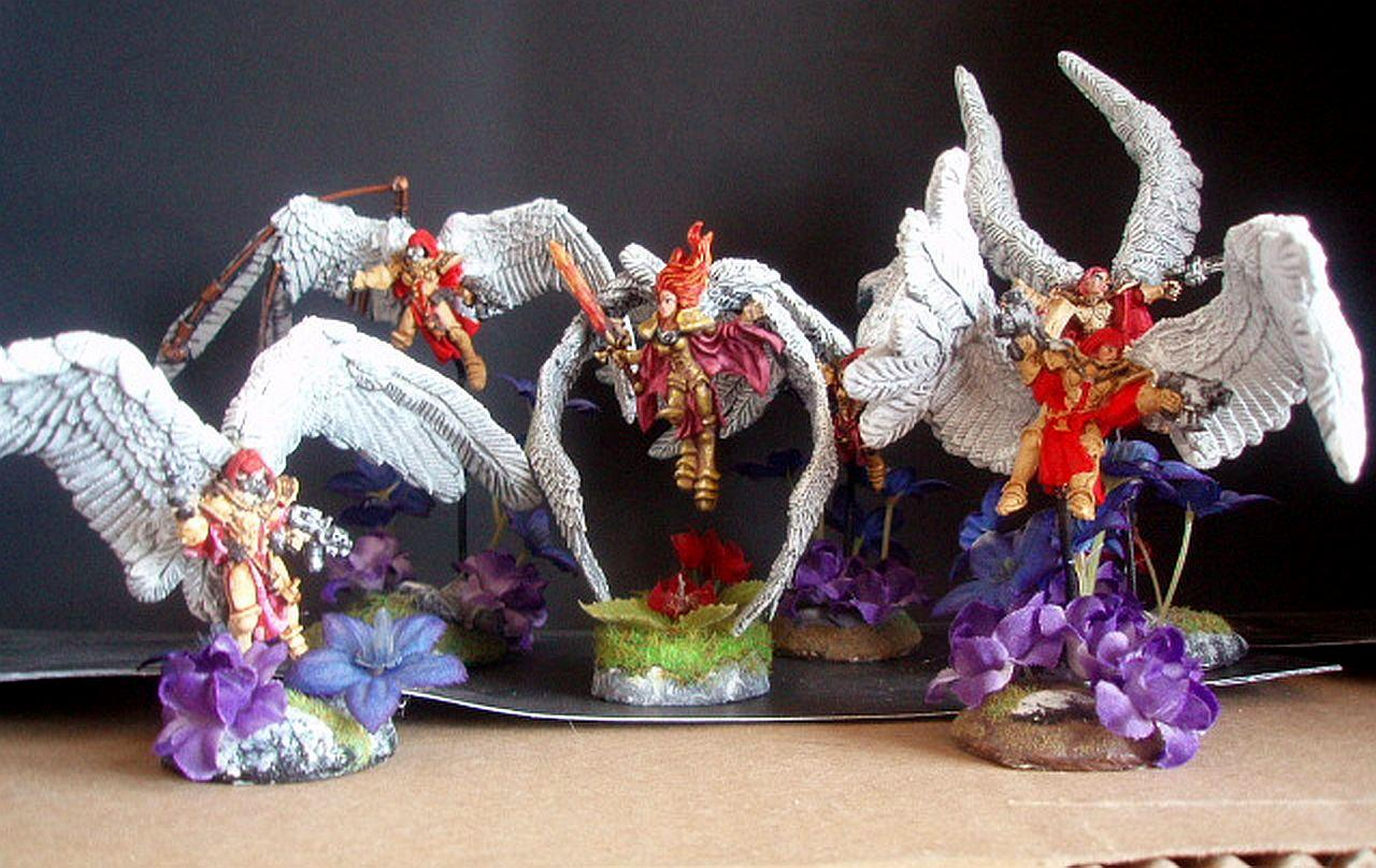 Conversion, Sculpting, Seraphim, Seraphim Wings, Sisters Of Battle, St Celestine Sculpt, St Celestine Wings, Winged