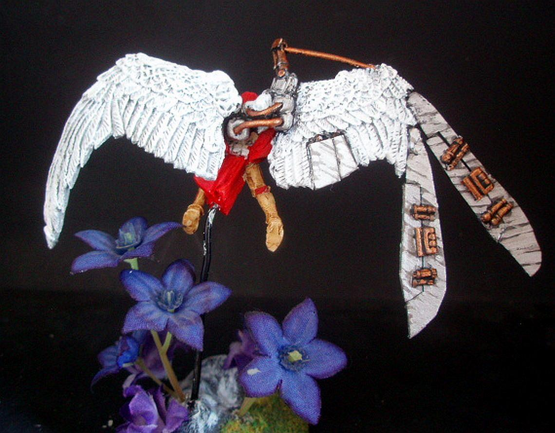 Conversion, Sculpting, Seraphim, Seraphim Wings, Sisters Of Battle, St Celestine Sculpt, St Celestine Wings, Winged