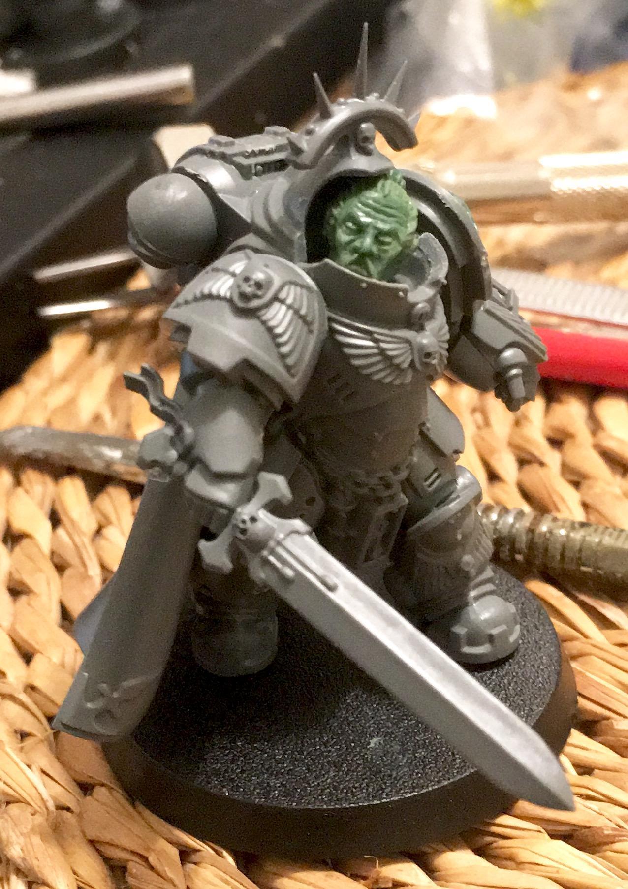 Captain, Primaris, Sculpting, Space Marines, Tokugawa