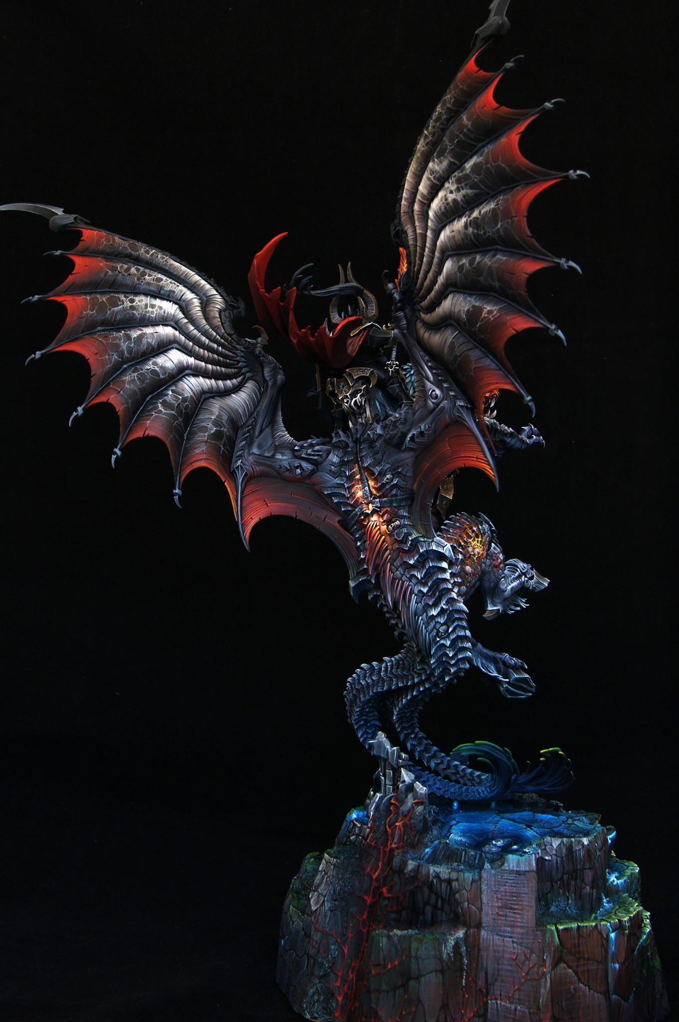 Age Of Sigmar, Archaon Everchosen, Golden Demon, Object Source Lighting, Wet Blending