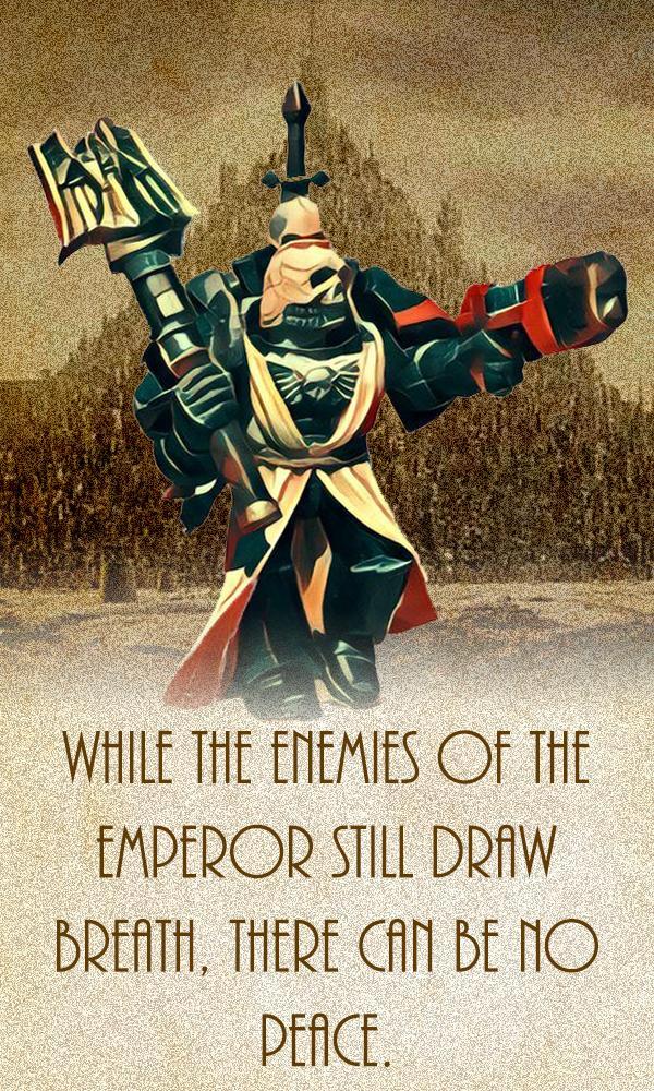 Chaplain, Poster, Propaganda, Space Marines, Warhammer 40,000