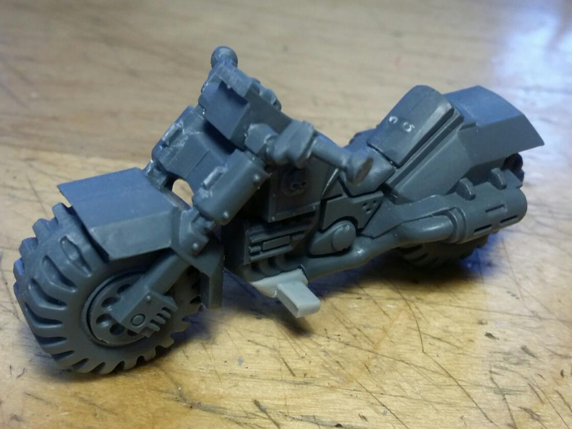 Assault, Bike, Cast, Chainsword, Conversion, Custom, Kitbash, Mold, Scouts, Space Marines, Squad, Ultra, Ultramarines