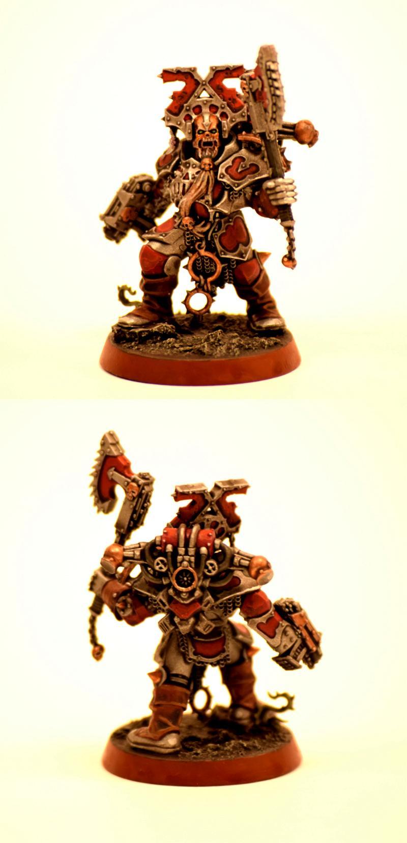 Berzerker, Custom, Khorne, Khorne Berzerker Kit Bashed Custom, Kit Bashed, Warhammer 40,000
