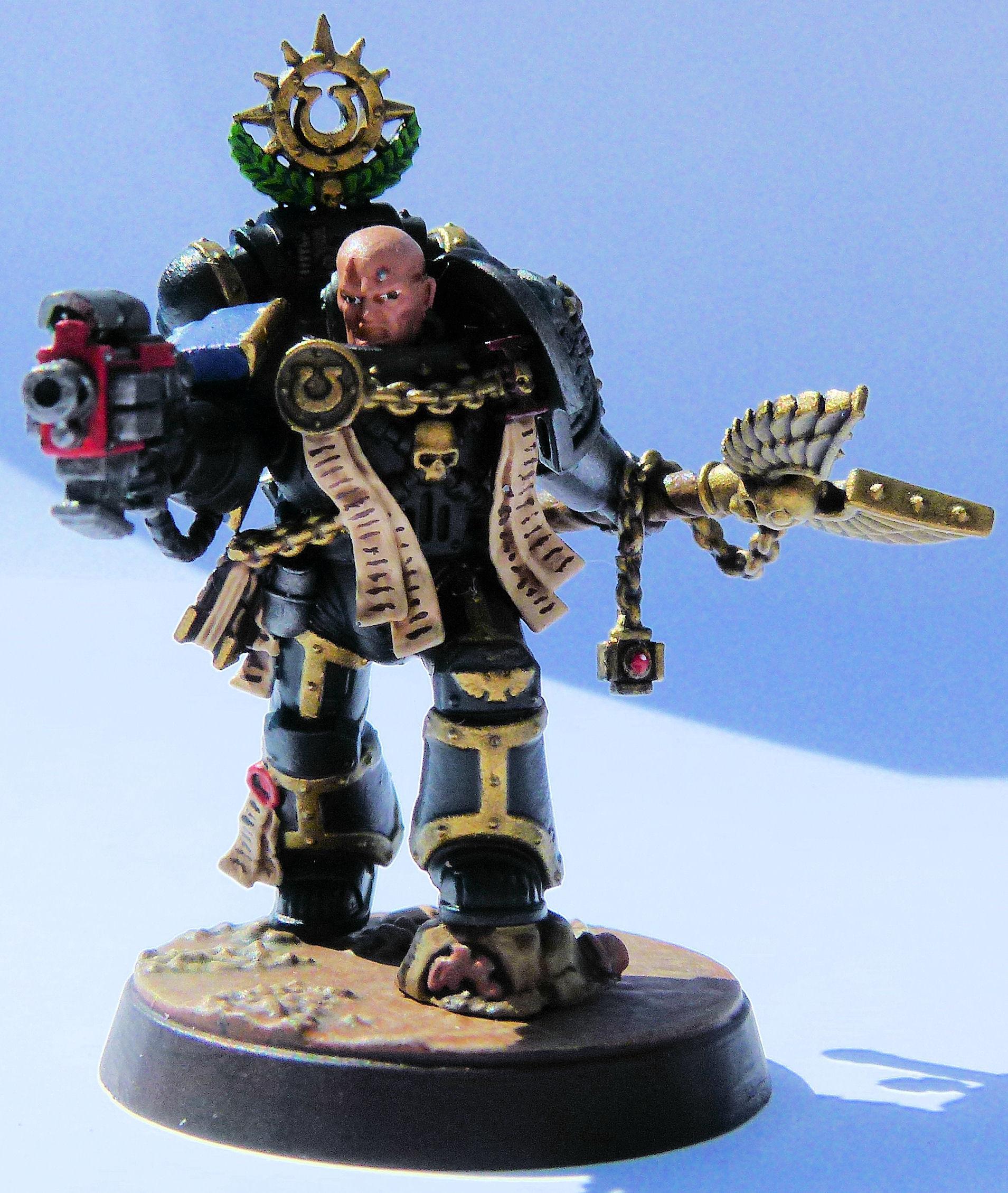 Deathwatch Chaplain Cassius Front