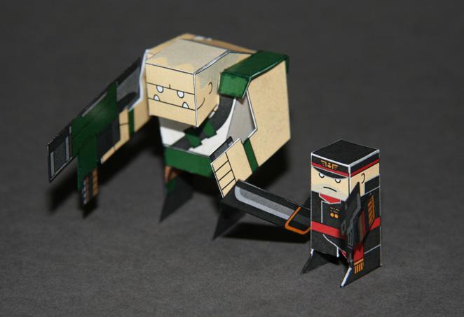 Chibi, Cute, Imperial Guard, Paper