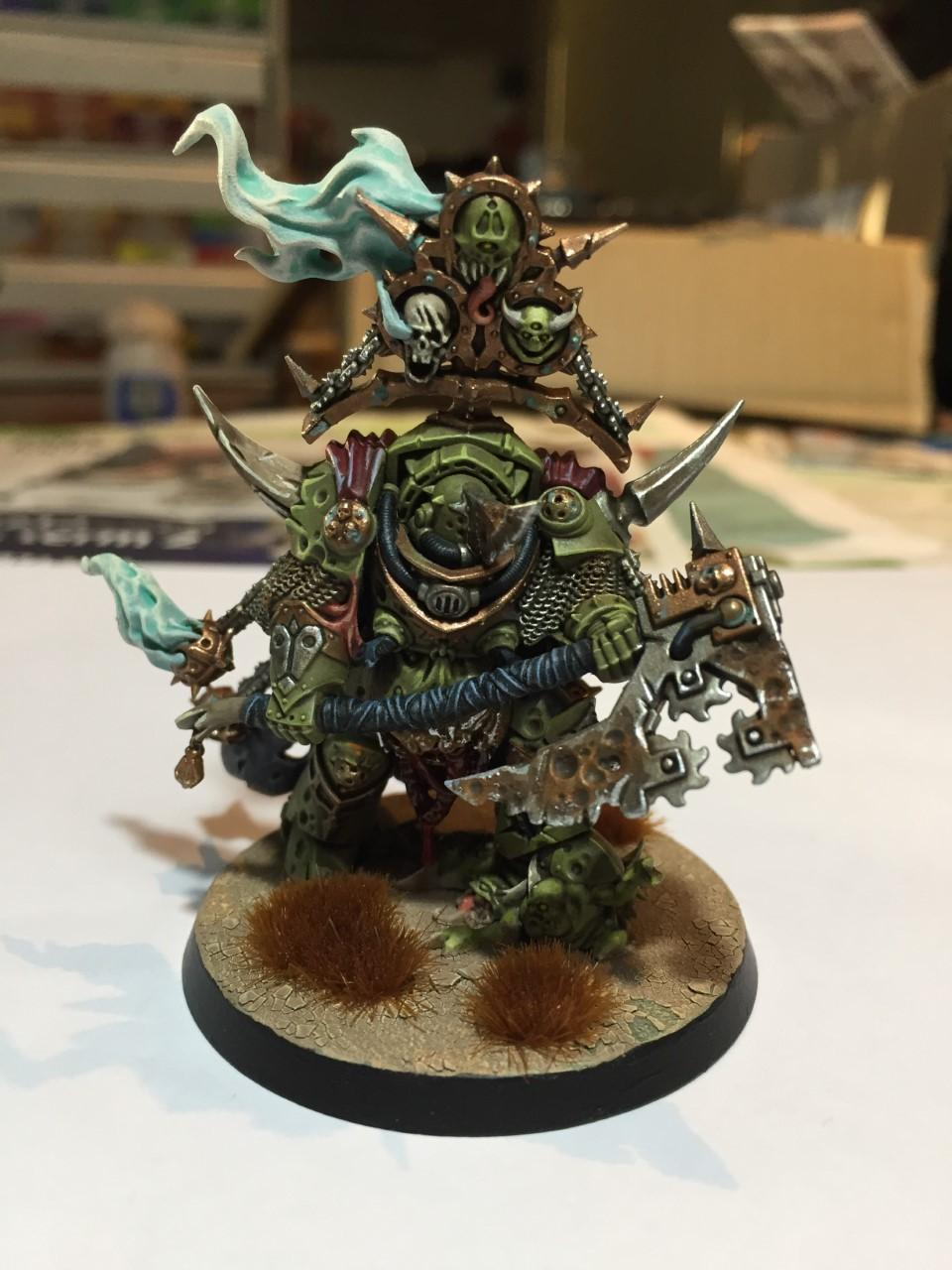 Chaos Space Marines, Cracked Base, Death Guard, Lord Of Contagion, Nurgle, Plague Marines, Warhammer 40,000
