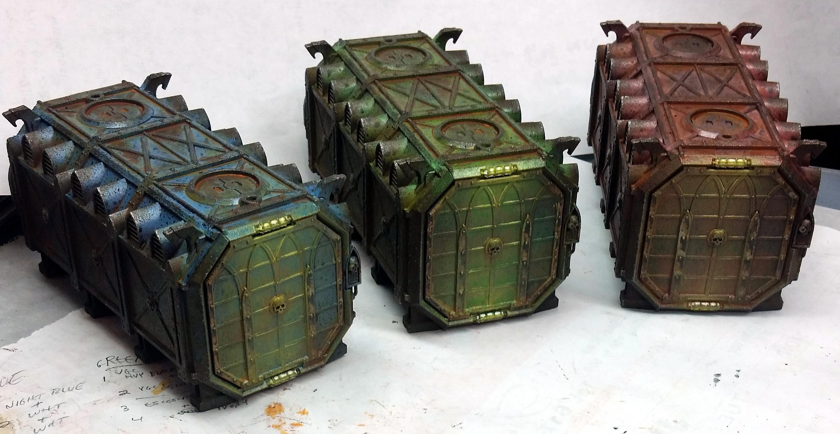 Cargo Containers, Crates, Weathered