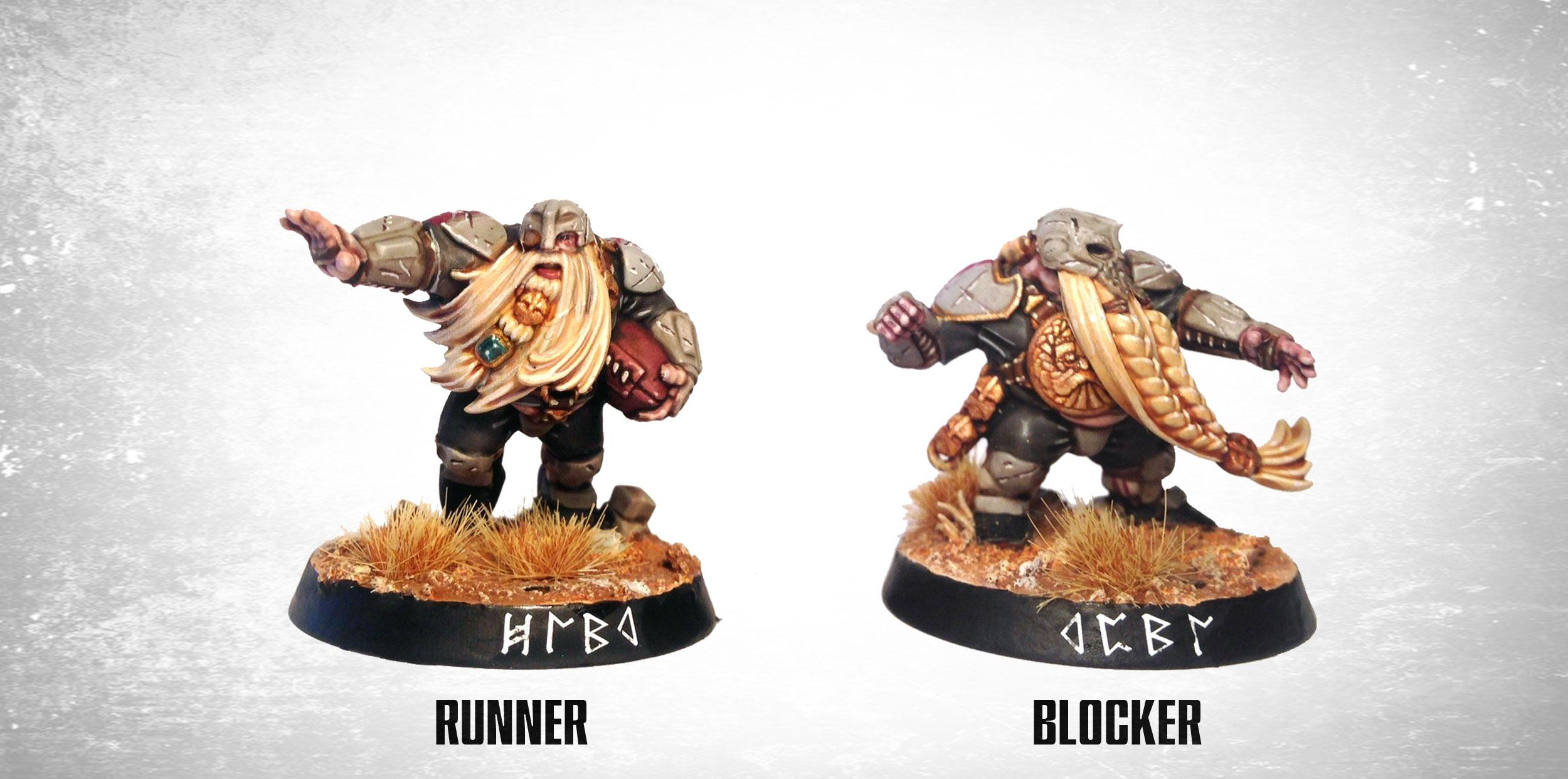 Blood Bowl, Chipping, Dwarves, Football, Sport, Weathered