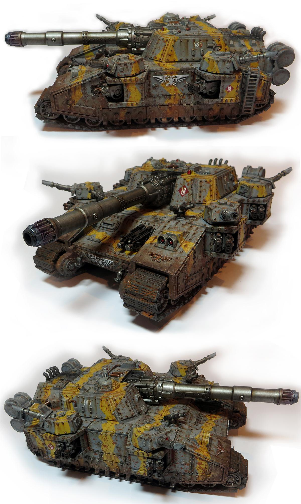Astra Militarum, Baneblade, Bangblade, Battle-worn, Death Korps of Krieg, Dirty, Imperial Guard, Muddy, Rusty, Shadowsword, Stormsword, Tank, Weathered