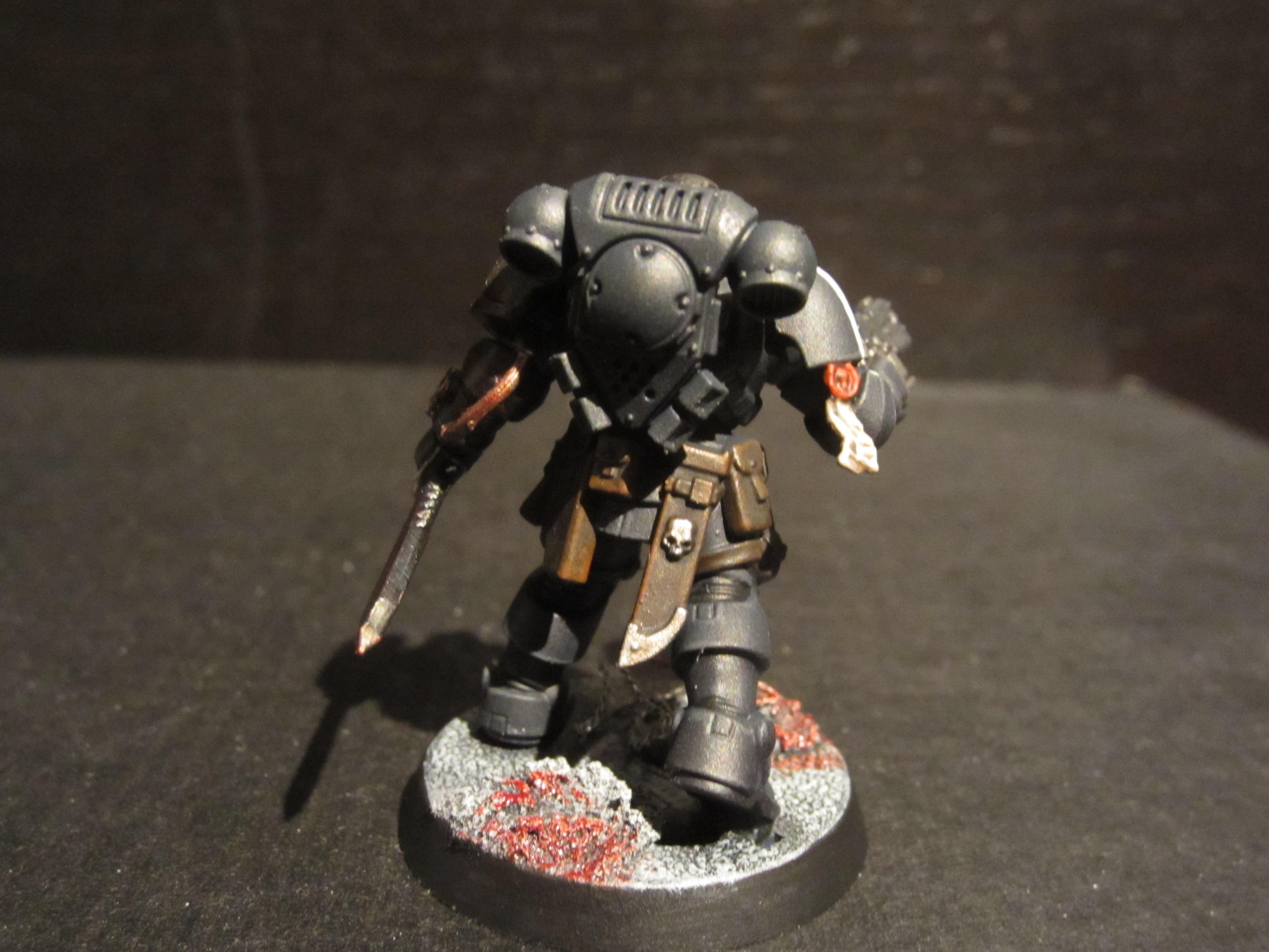 Black, Blood, Grey, Heavy Bolt Pistol, Knife, Primaris, Raven Guard, Reiver, Skull, Warhammer 40,000, White