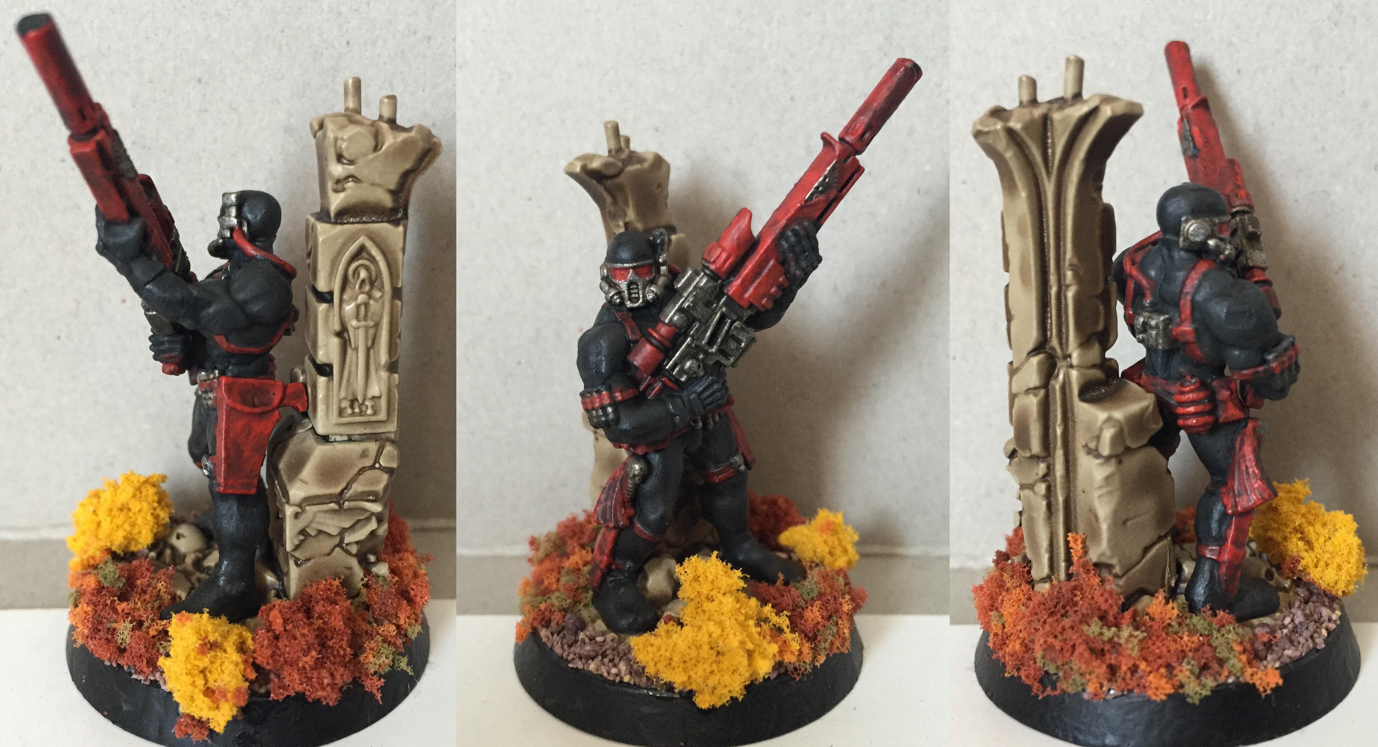 Assassin, Petrifications, Vindicare, Warhammer 40,000, Washed