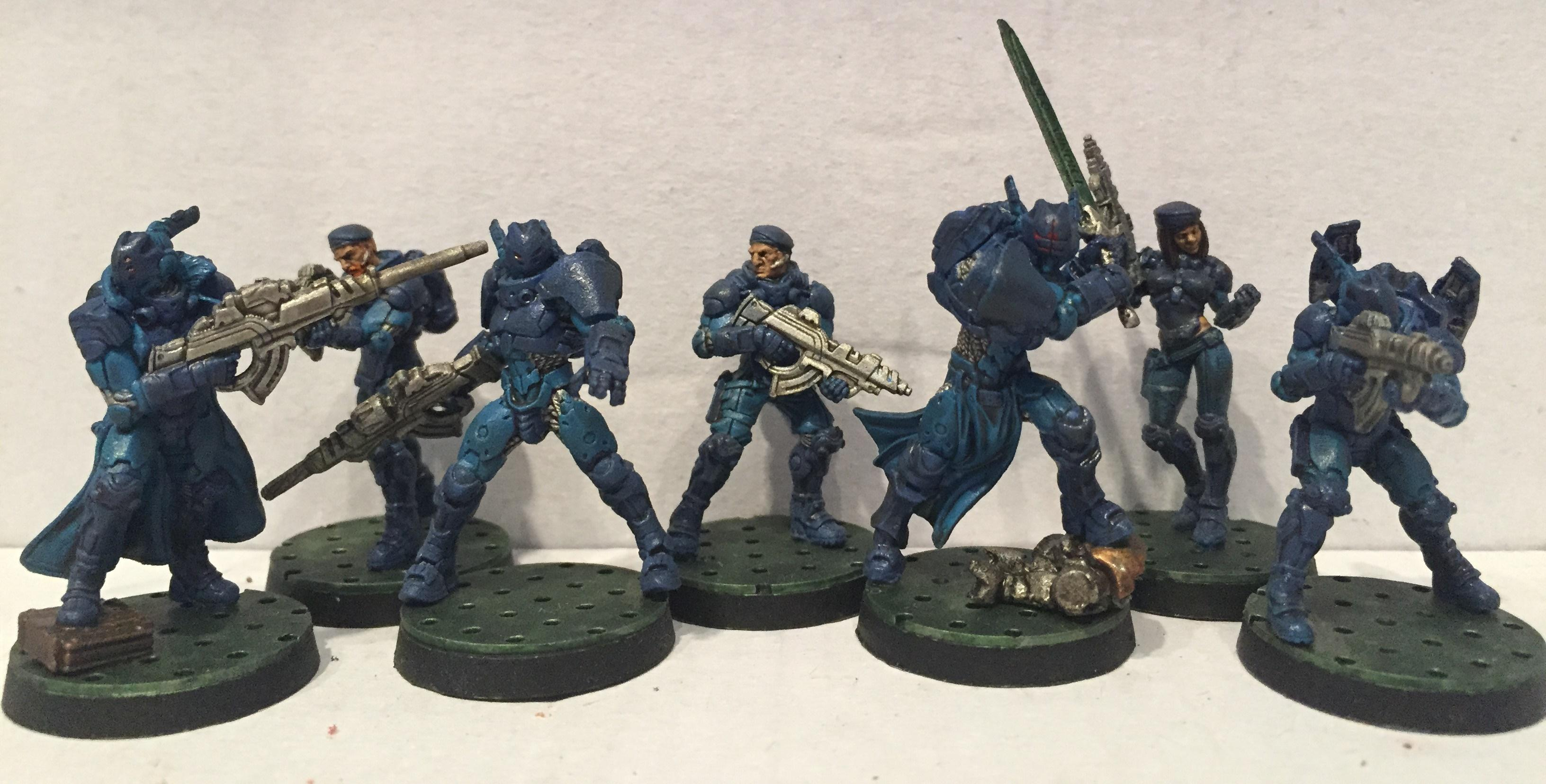 Corvus Belli, Dipped, Infinity, Panoceania, Petrifications, Washed