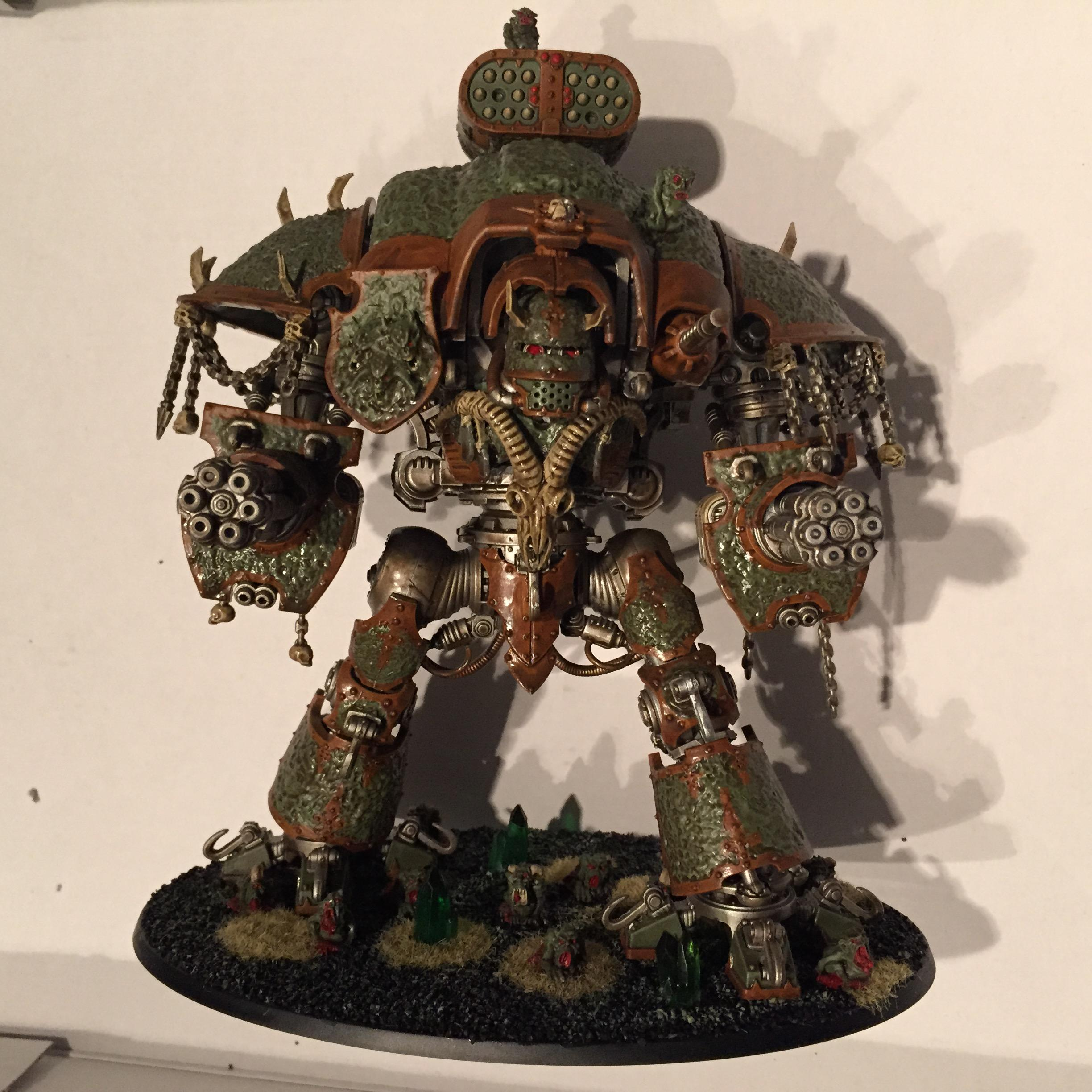 Chaos, Chaos Space Marines, Conversion, Dipped, Imperial Knight, Nurgle, Petrications, Renegade Knight, Warhammer 40,000