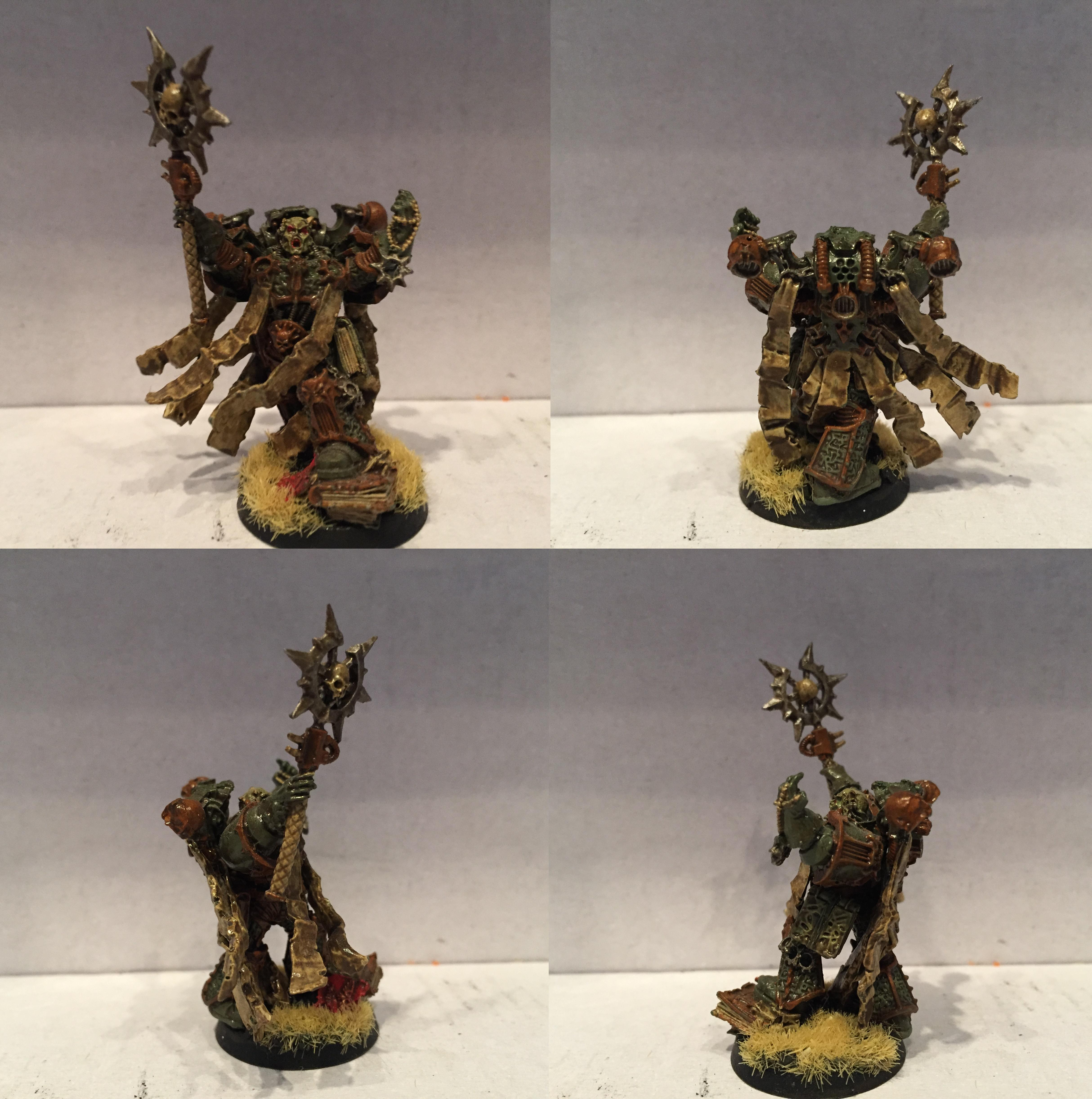 Apostle, Chaos, Chaos Space Marines, Dipped, Nurgle, Petrifications, Warhammer 40,000