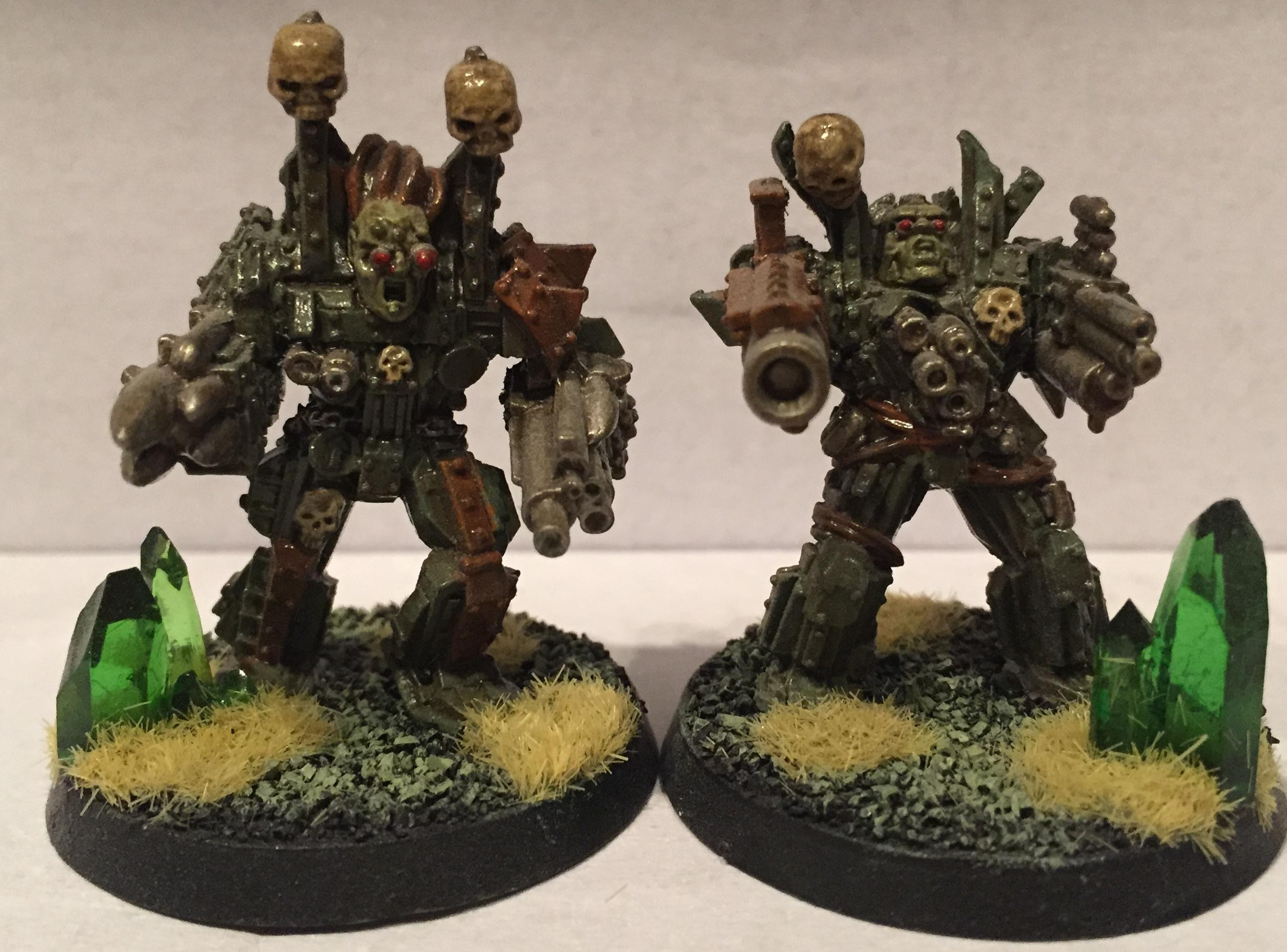 Chaos, Chaos Space Marines, Dipped, Nurgle, Obliterators, Petrifications, Warhammer 40,000