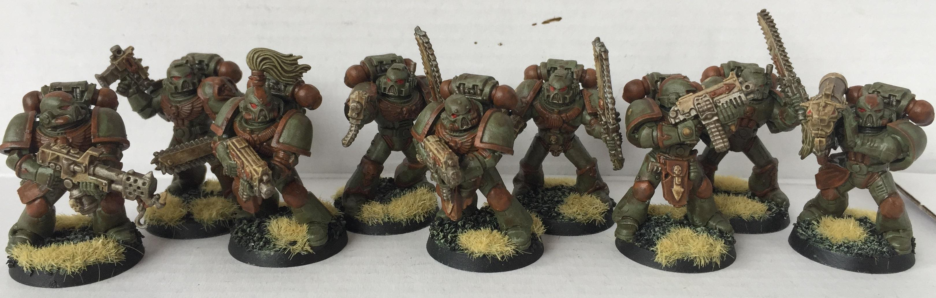 Chaos, Chaos Space Marines, Conversion, Dipped, Nurgle, Petrifications, Warhammer 40,000