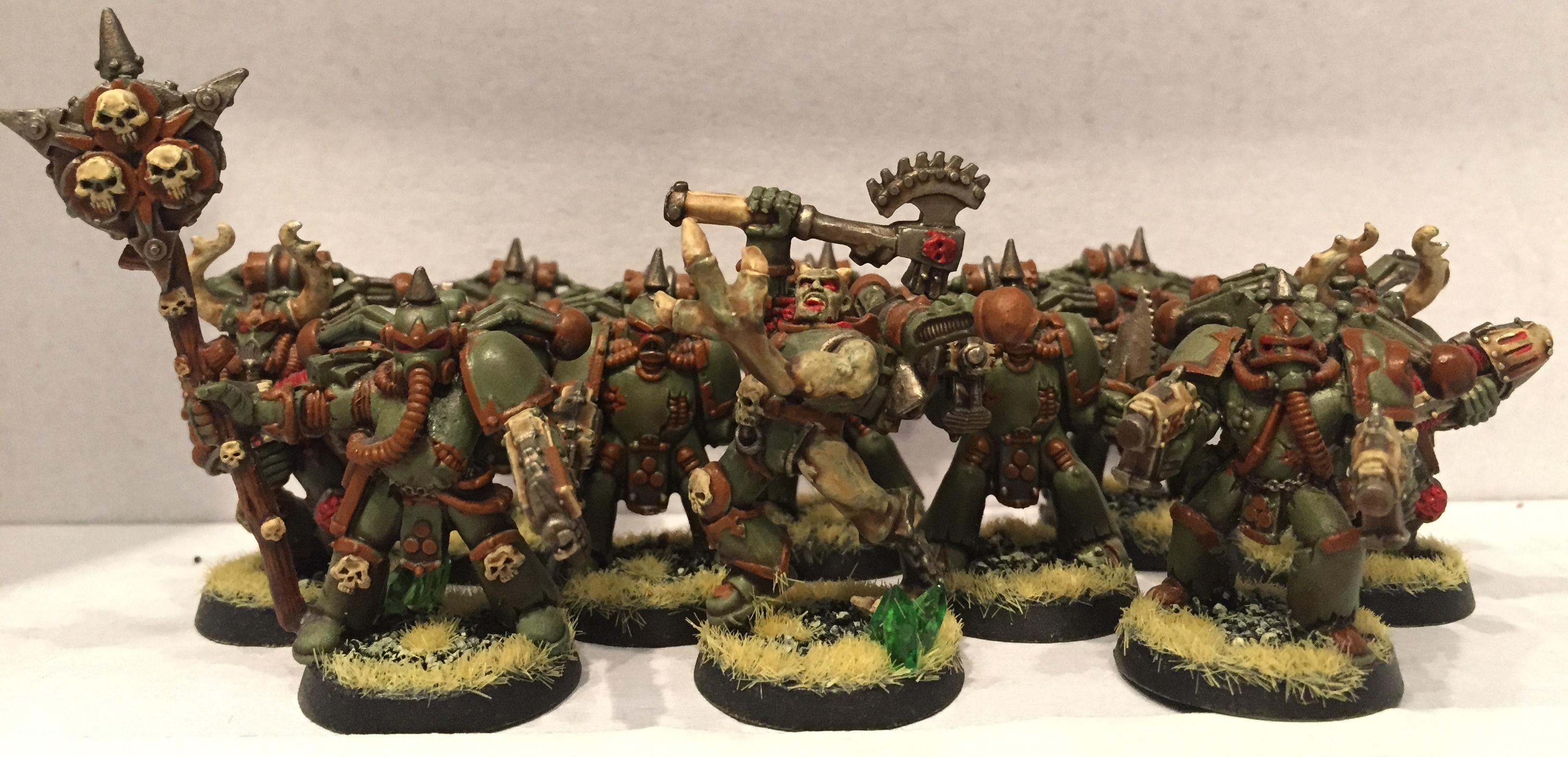 Chaos, Chaos Space Marines, Dipped, Nurgle, Petrifications, Plague Marines, Warhammer 40,000