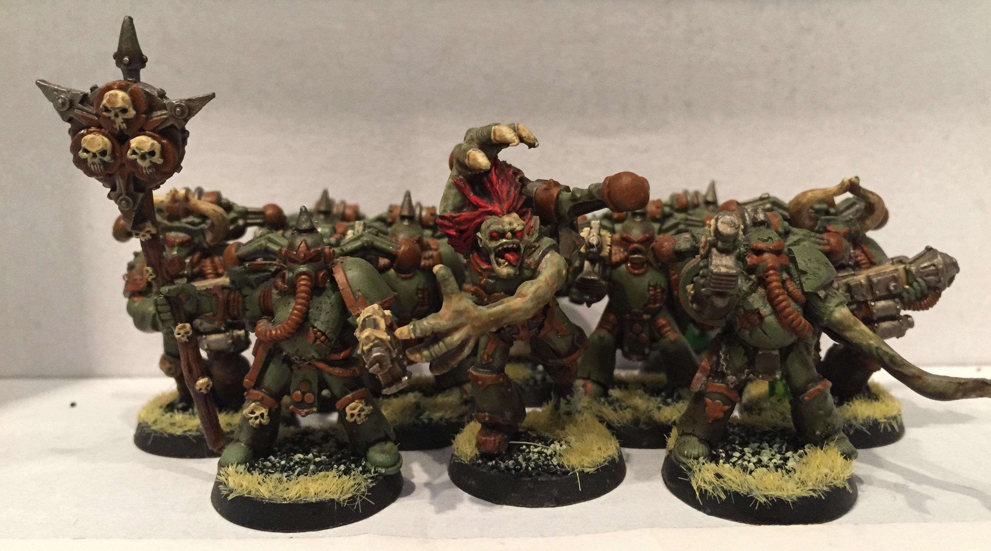 Chaos, Chaos Space Marines, Dipped, Nurgle, Petrifications, Plague Marines, Warhammer 40,000