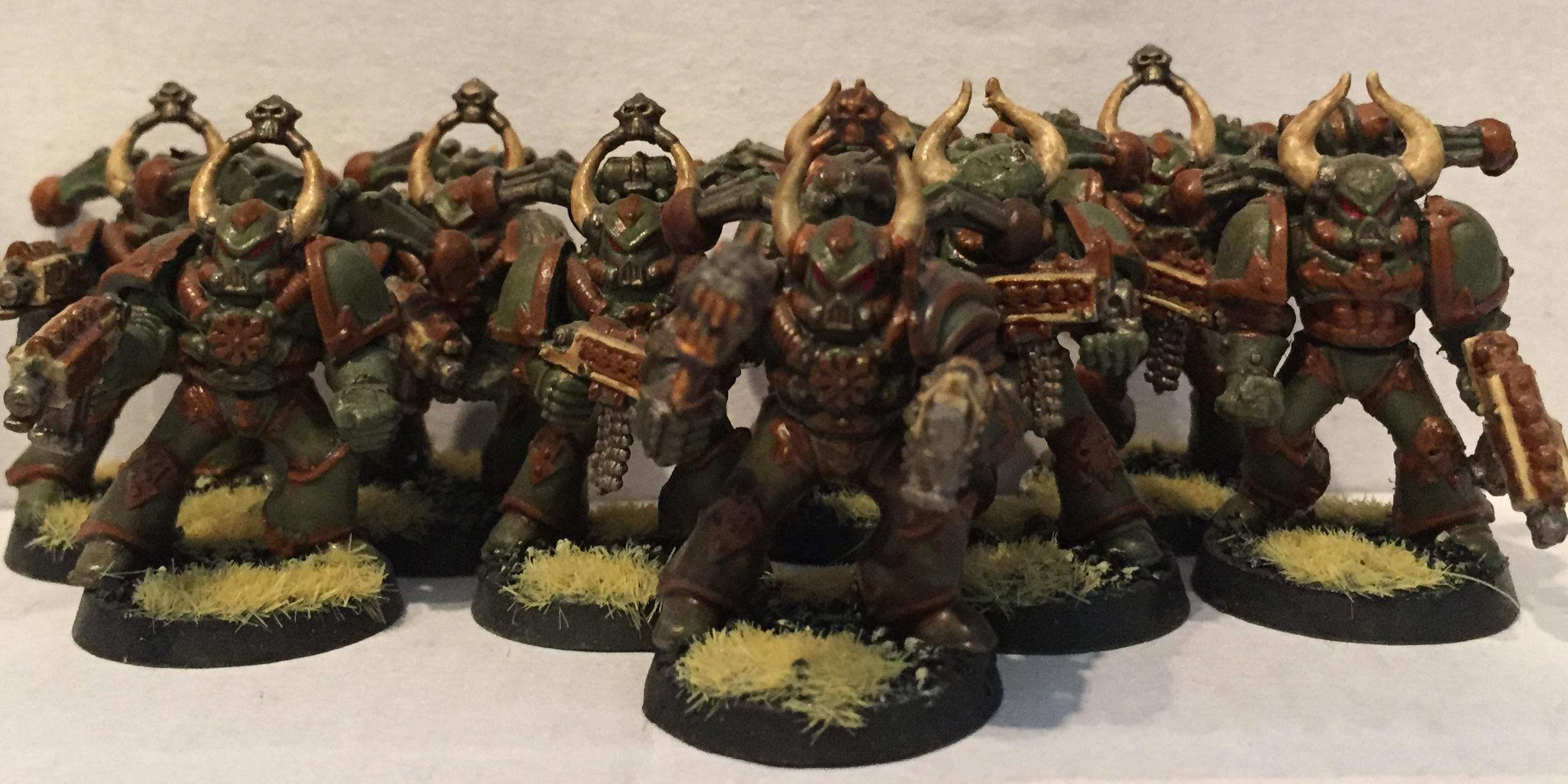 Chaos, Chaos Space Marines, Dipped, Nurgle, Petrifications, Warhammer 40,000