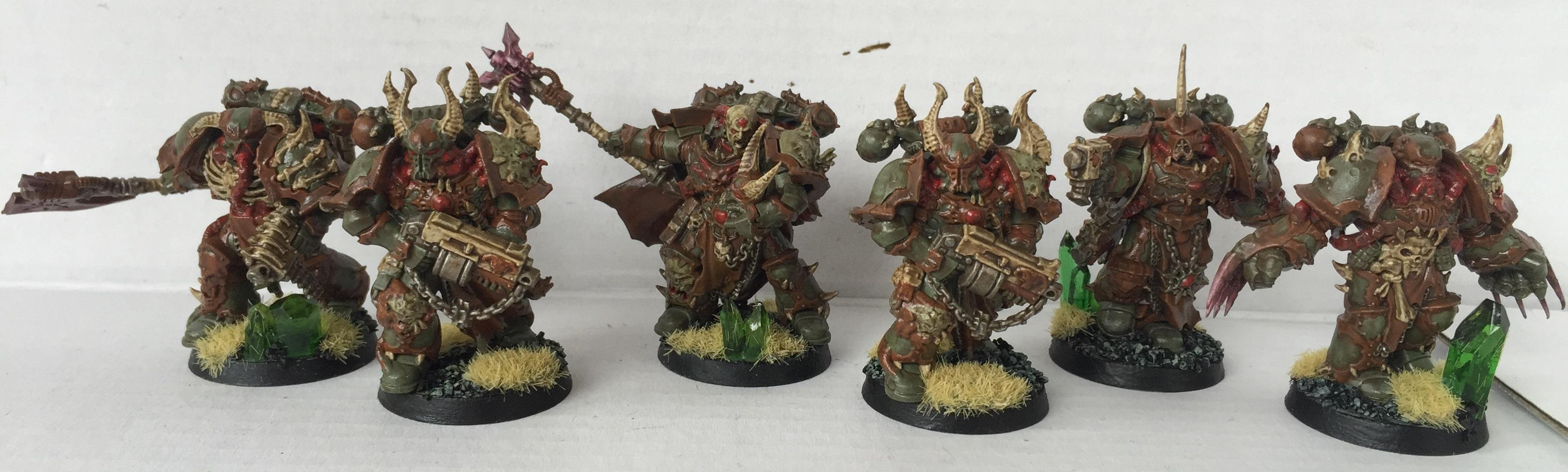 Chaos, Chaos Space Marines, Chosen, Dipped, Nurgle, Petrifications, Warhammer 40,000, Washed
