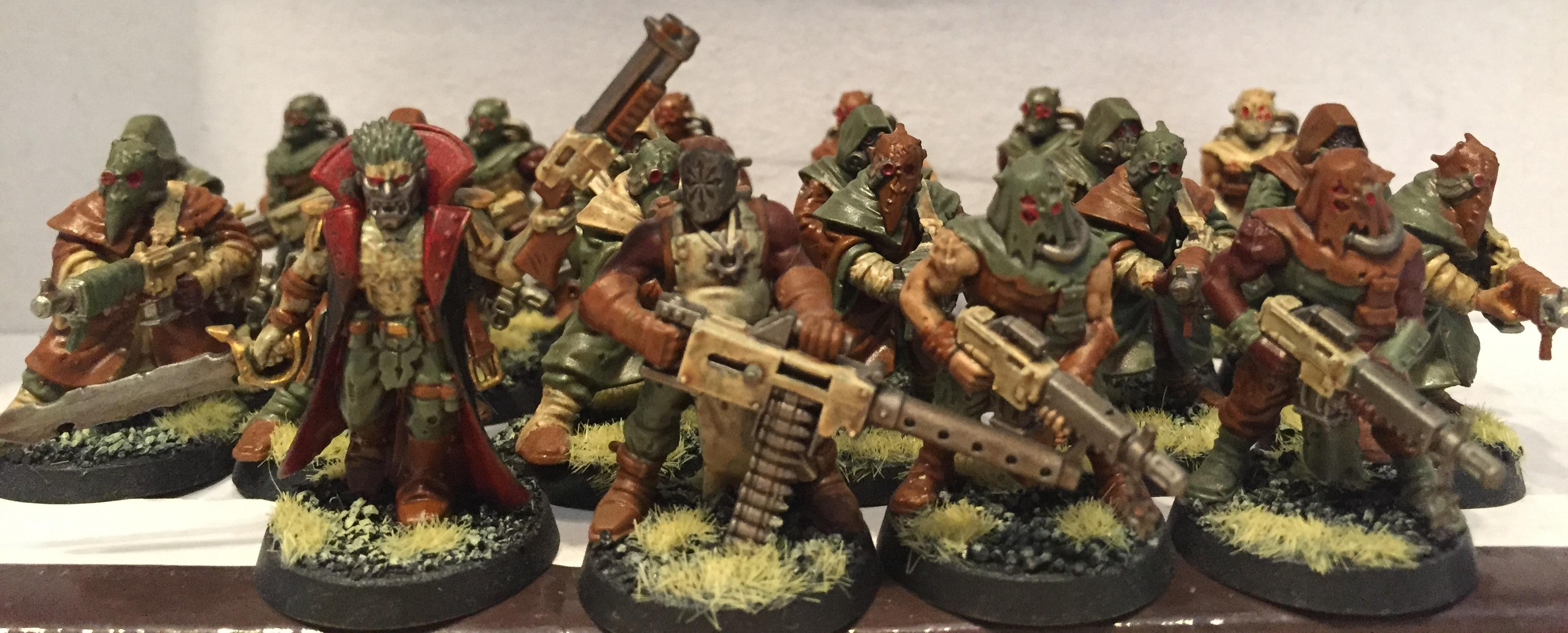 Chaos, Chaos Space Marines, Cultists, Dipped, Nurgle, Petrifications, Warhammer 40,000