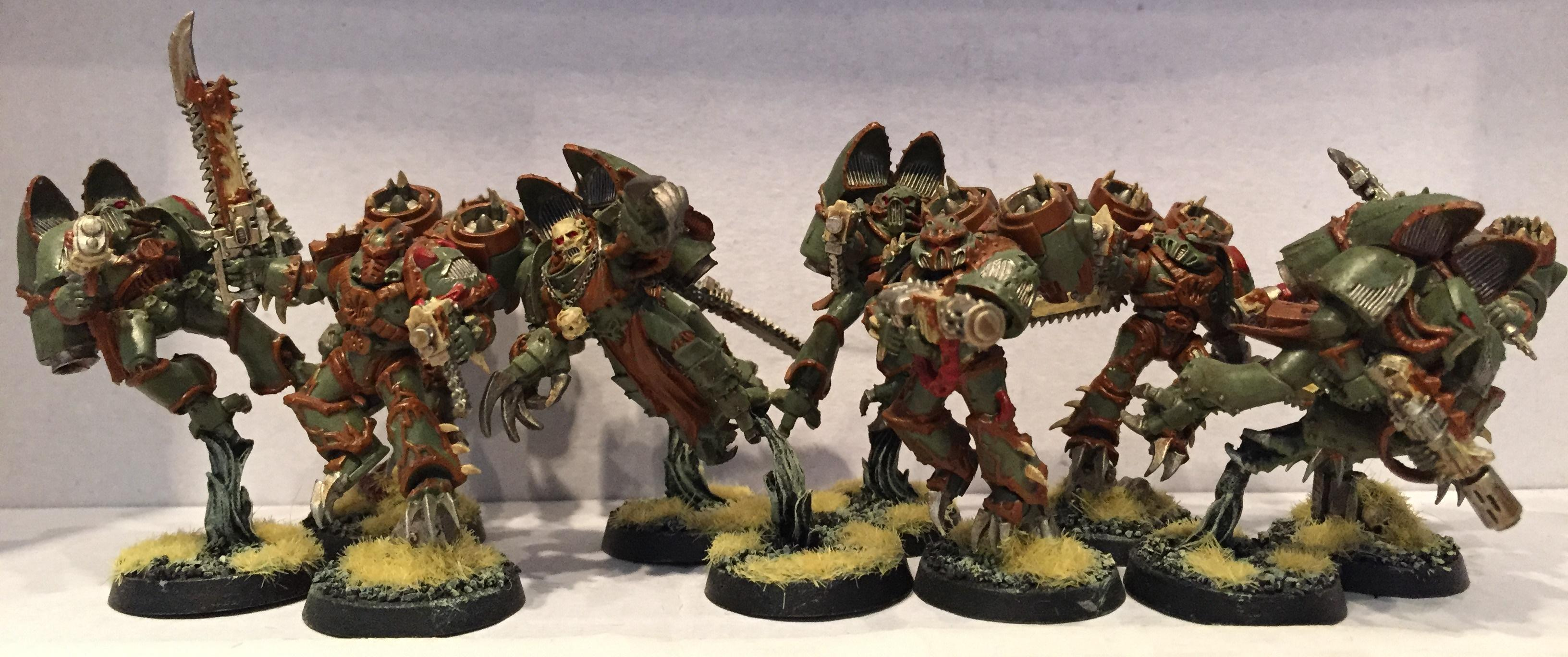 Chaos, Chaos Space Marines, Dipped, Nurgle, Petrifications, Raptors, Warhammer 40,000