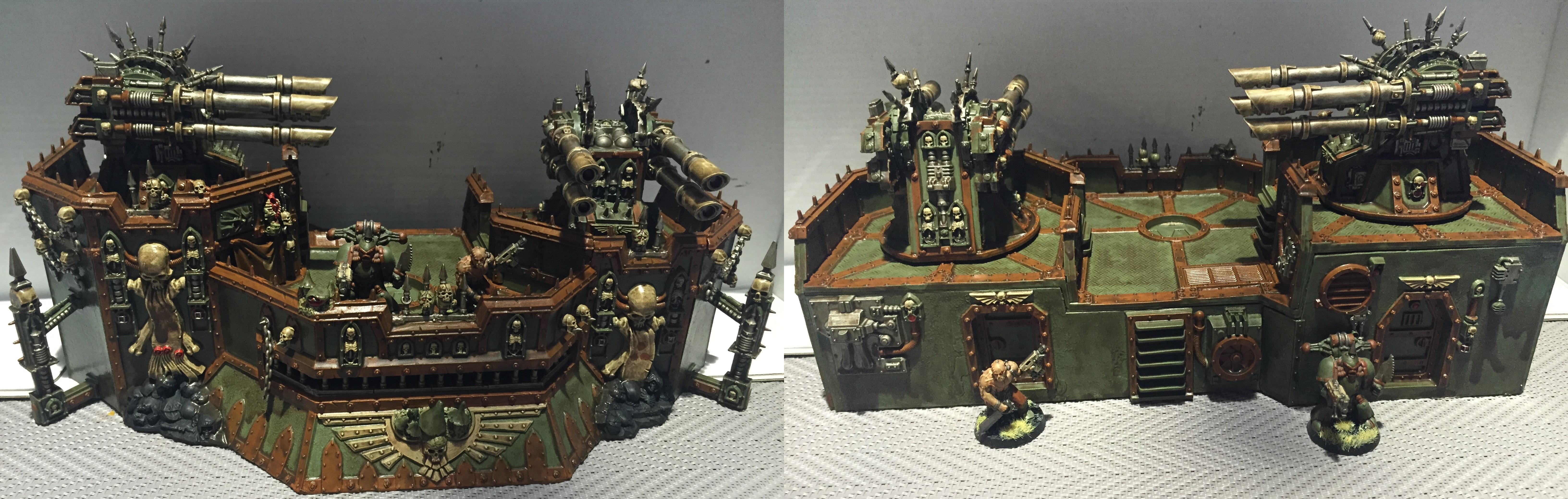 Chaos, Chaos Space Marines, Conversion, Dipped, Nurgle, Petrifications, Warhammer 40,000, Washed