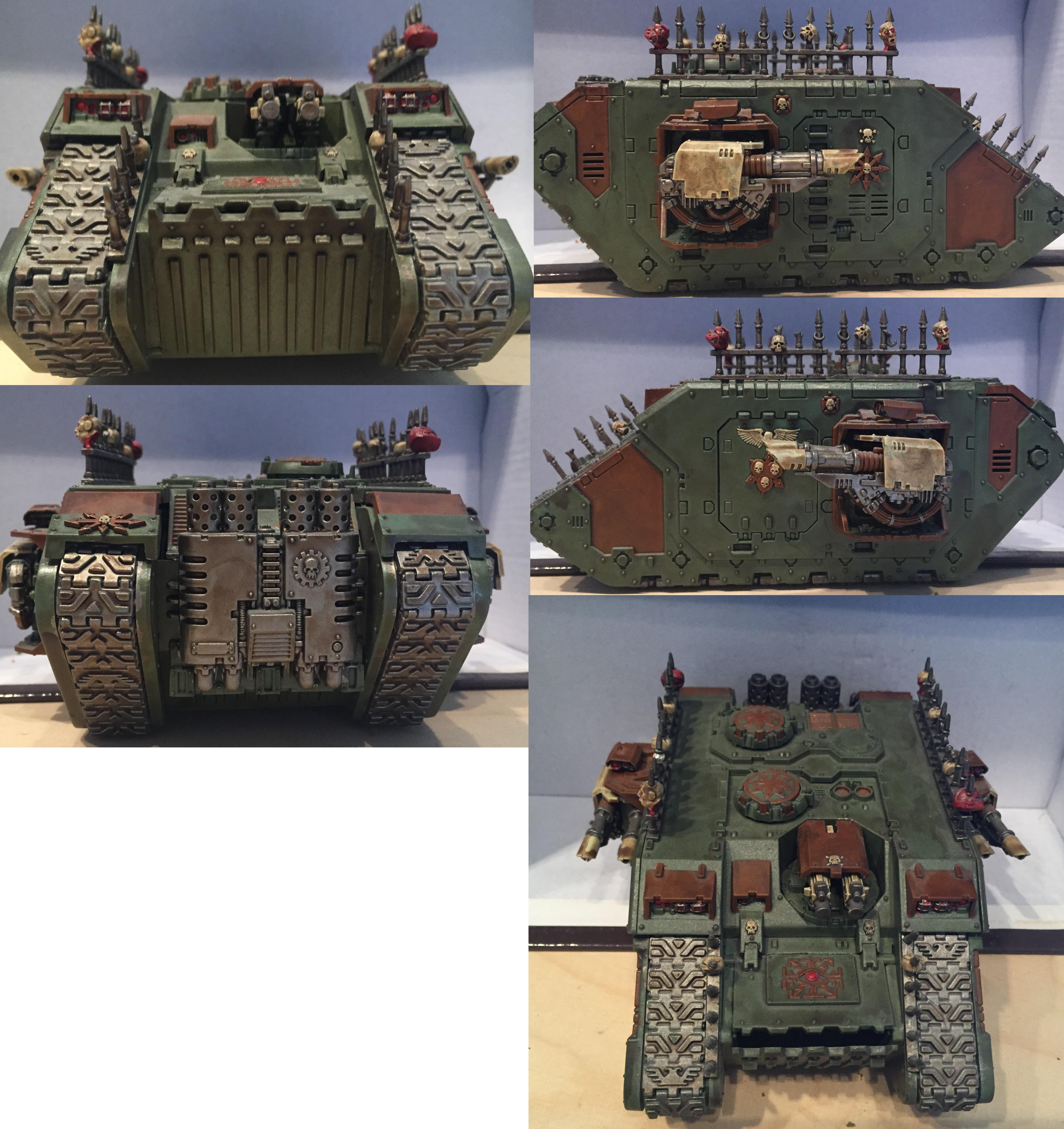 Chaos, Chaos Space Marines, Dipped, Land Raider, Nurgle, Petrifications, Tank, Warhammer 40,000
