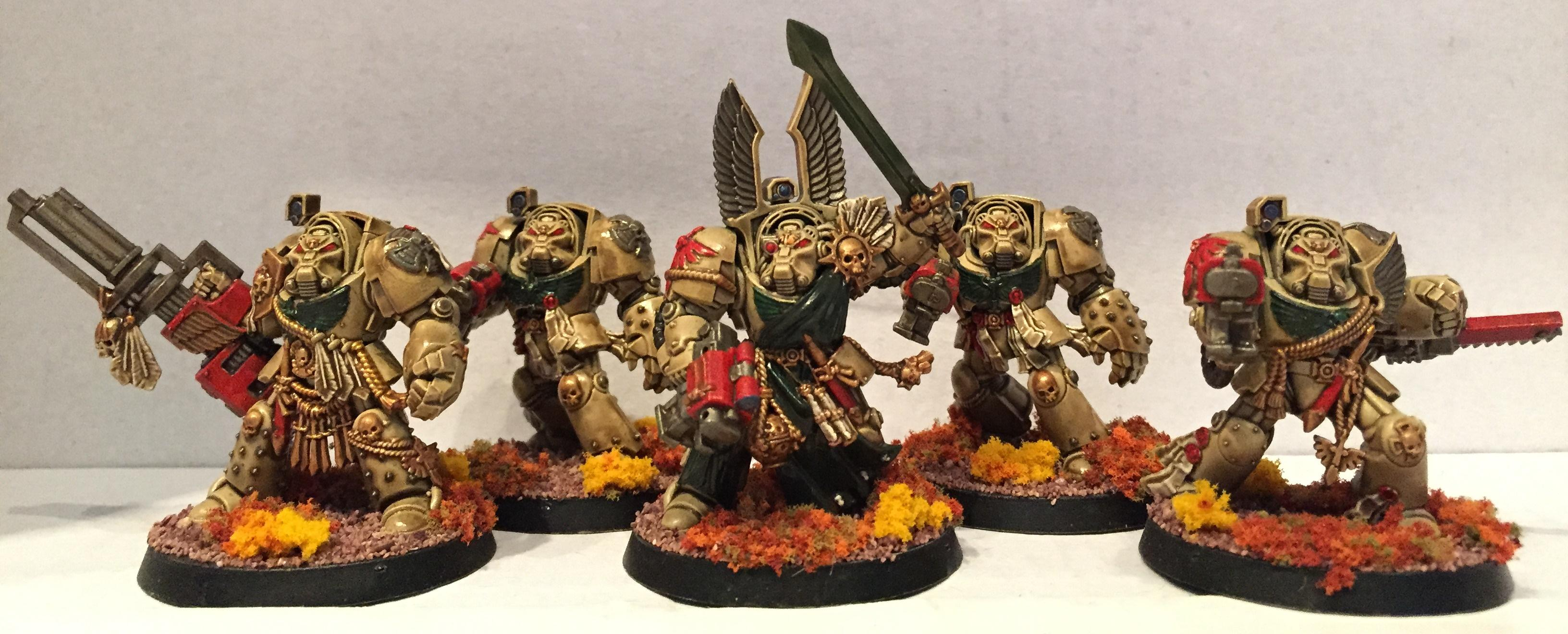 Dark Angels, Deathwing, Dipped, Petrifications, Space Marines, Terminator Armor, Warhammer 40,000, Washed