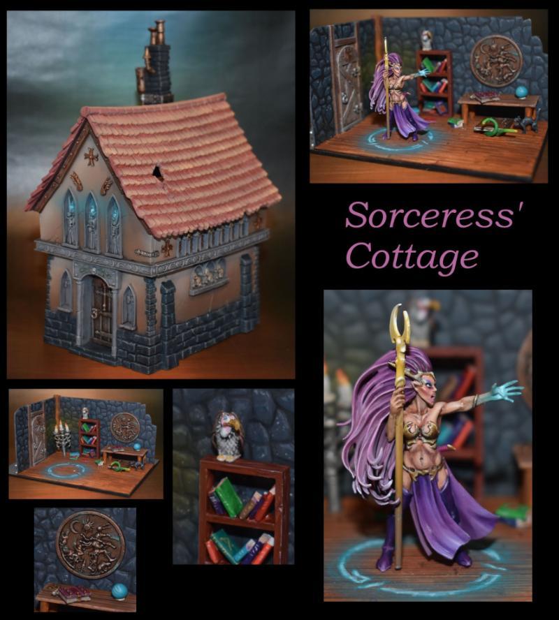 Cottage, Dark Elves, Sorceress, Terrain