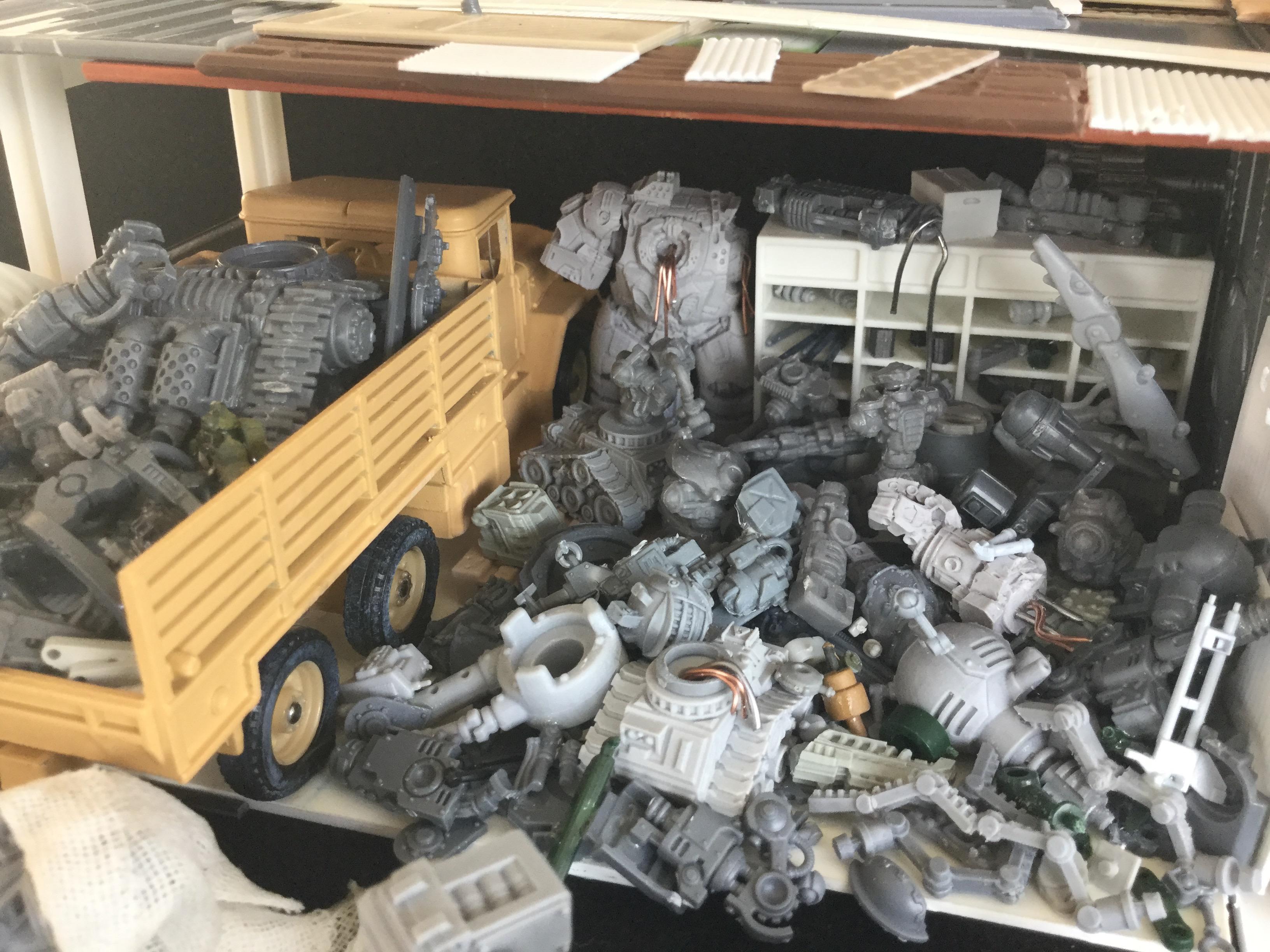 Junk, Shop, Terrain, Truck