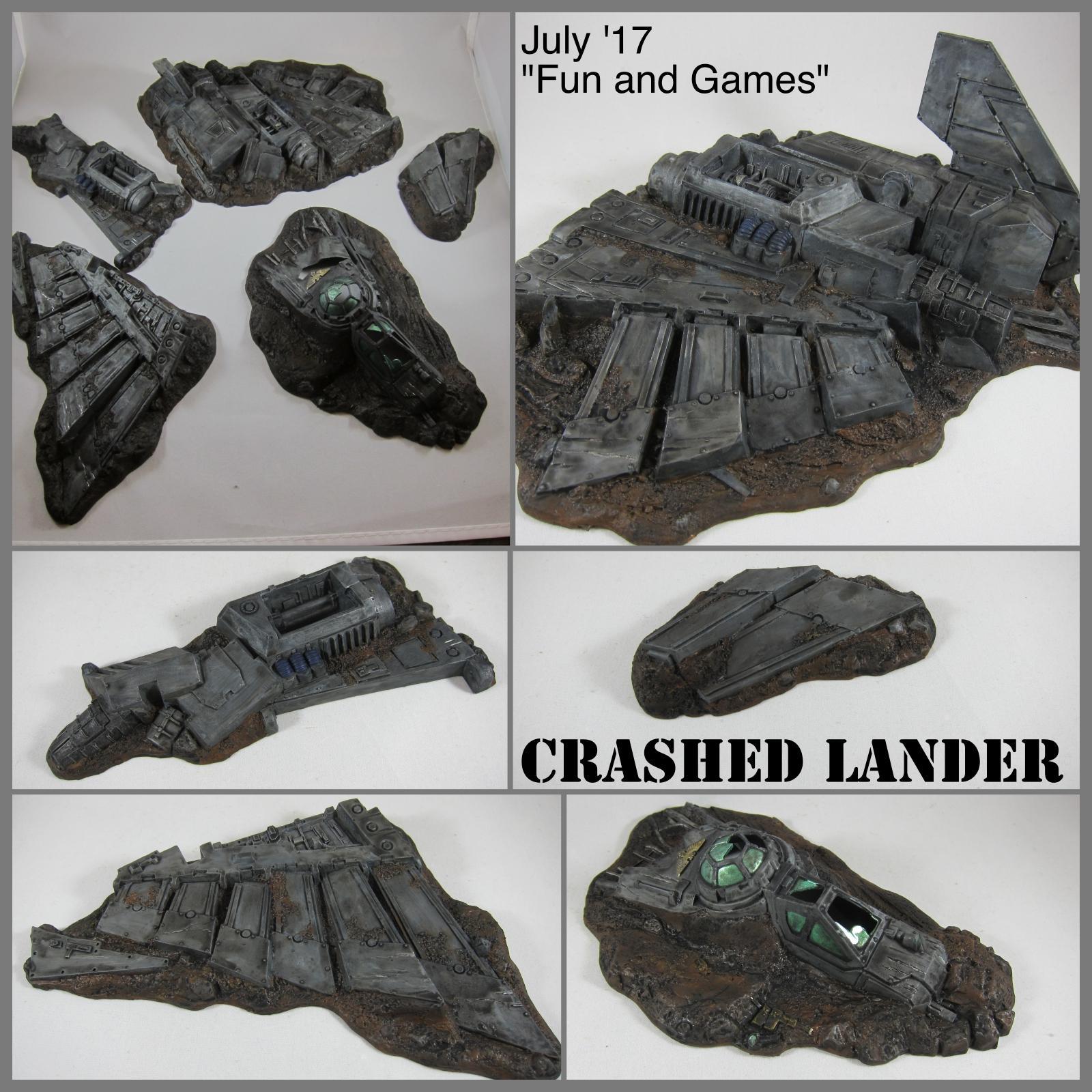 Crashed Lander, crashed lander WIP