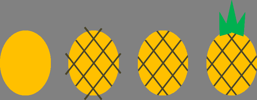 How to paint an Ananas
