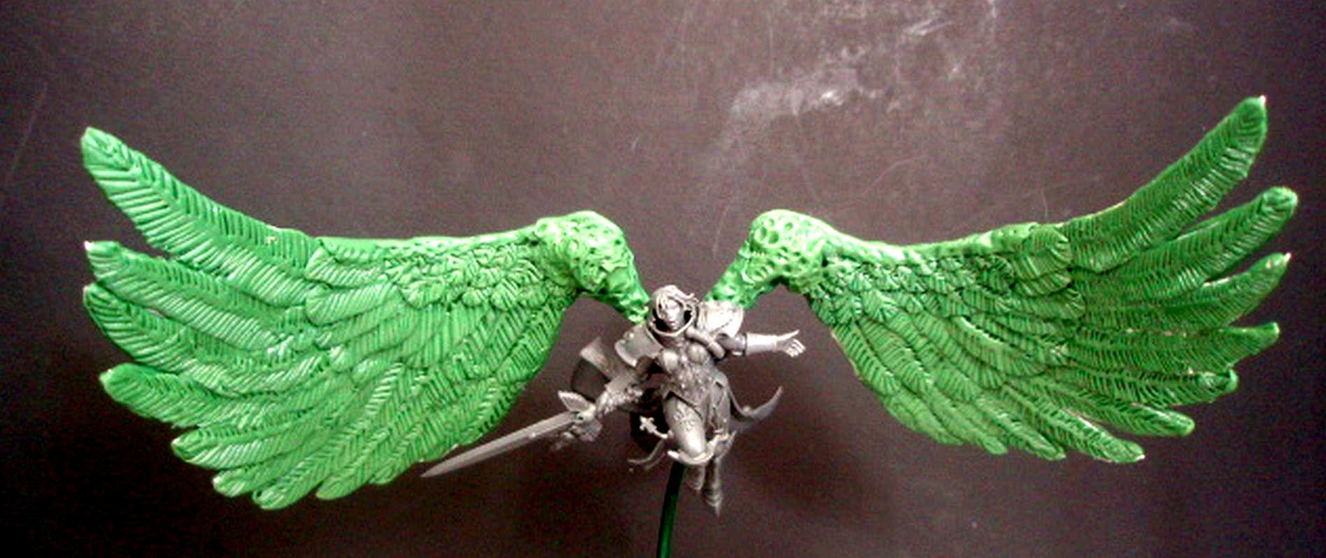 Sculpting, Seraphim, Seraphim Wings, Sisters Of Battle, St Celestine Sculpt, St Celestine Wings