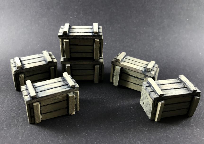 Crates, Custom, Objective Marker, Scratch Build, Warhammer 40,000, Wood