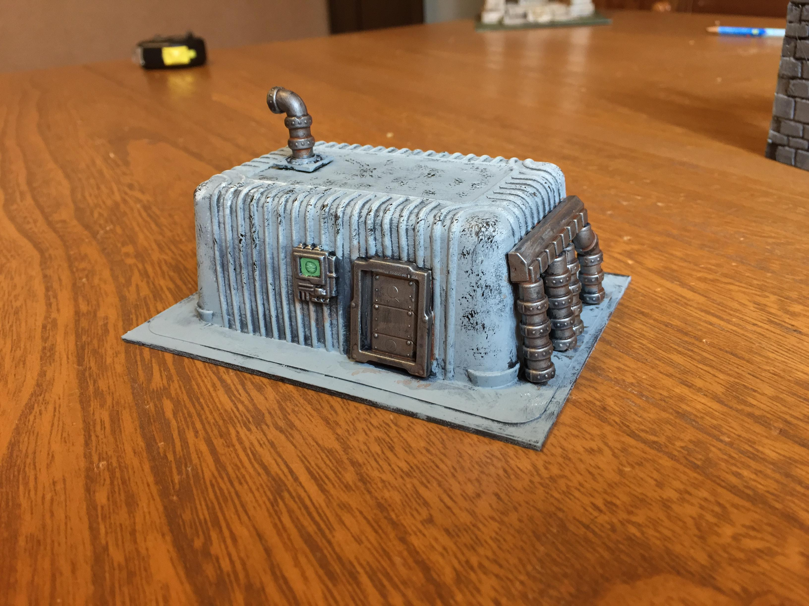 August 2017, Bunker, Maelstrom's Edge, Medge, Recycling, Science-fiction, Terrain, Tofu