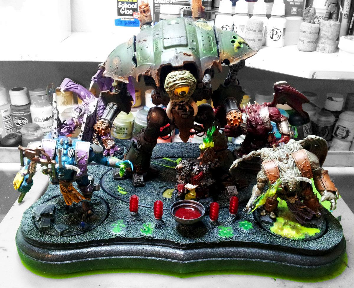 Cauldron Of Blood, Daemon Princes, Display Board, Inernal Tetrad, Low Model Count, Nurgle Knight