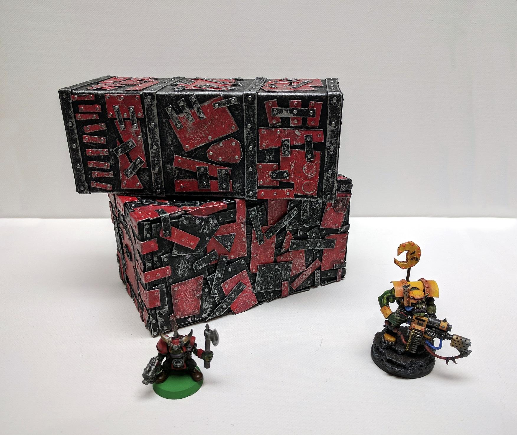 Cargo Containers, Crates, Custom, Orks, Scratch Build, Shipping Container, Terrain