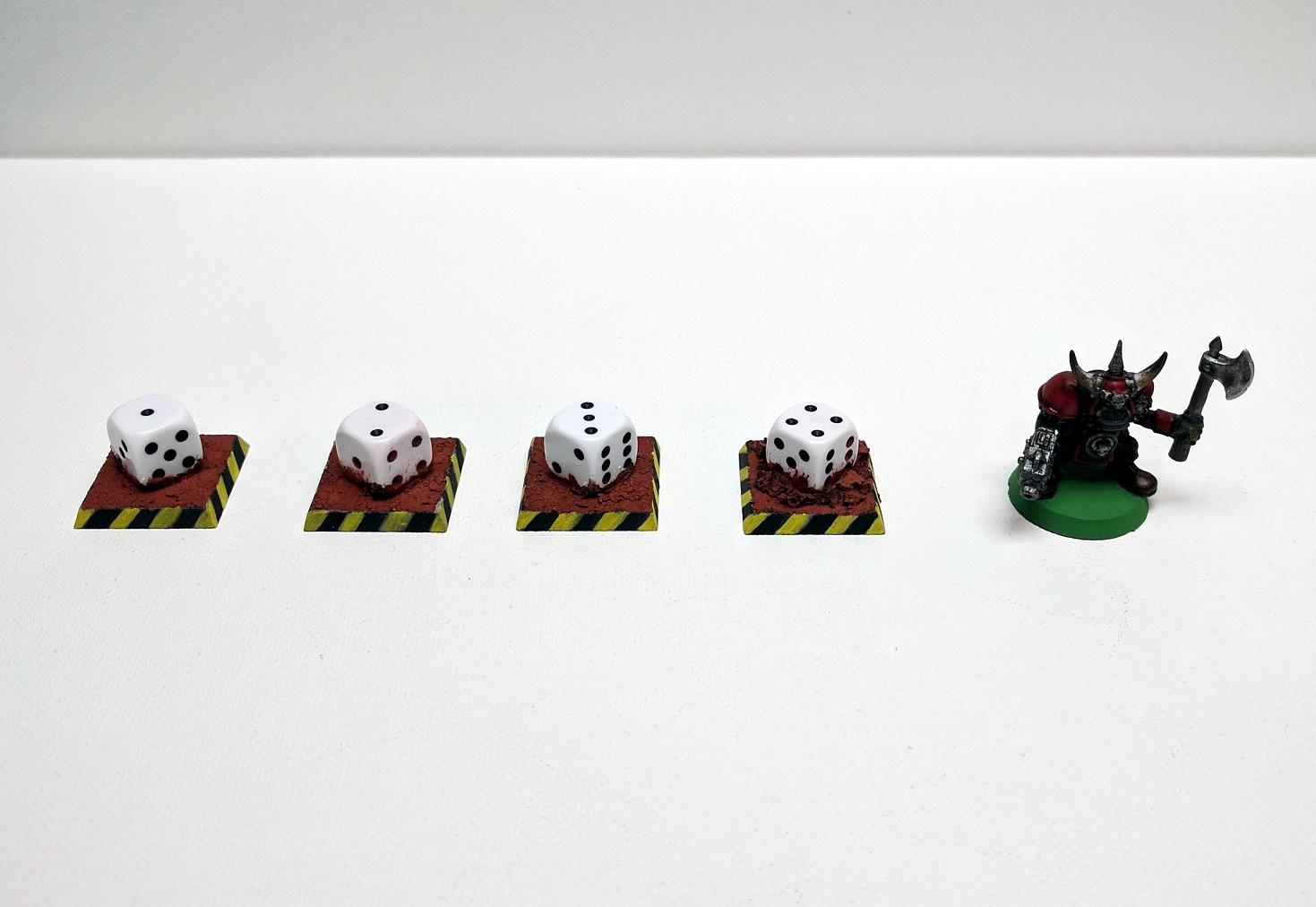 Objective Marker, Objective Markers with Dice