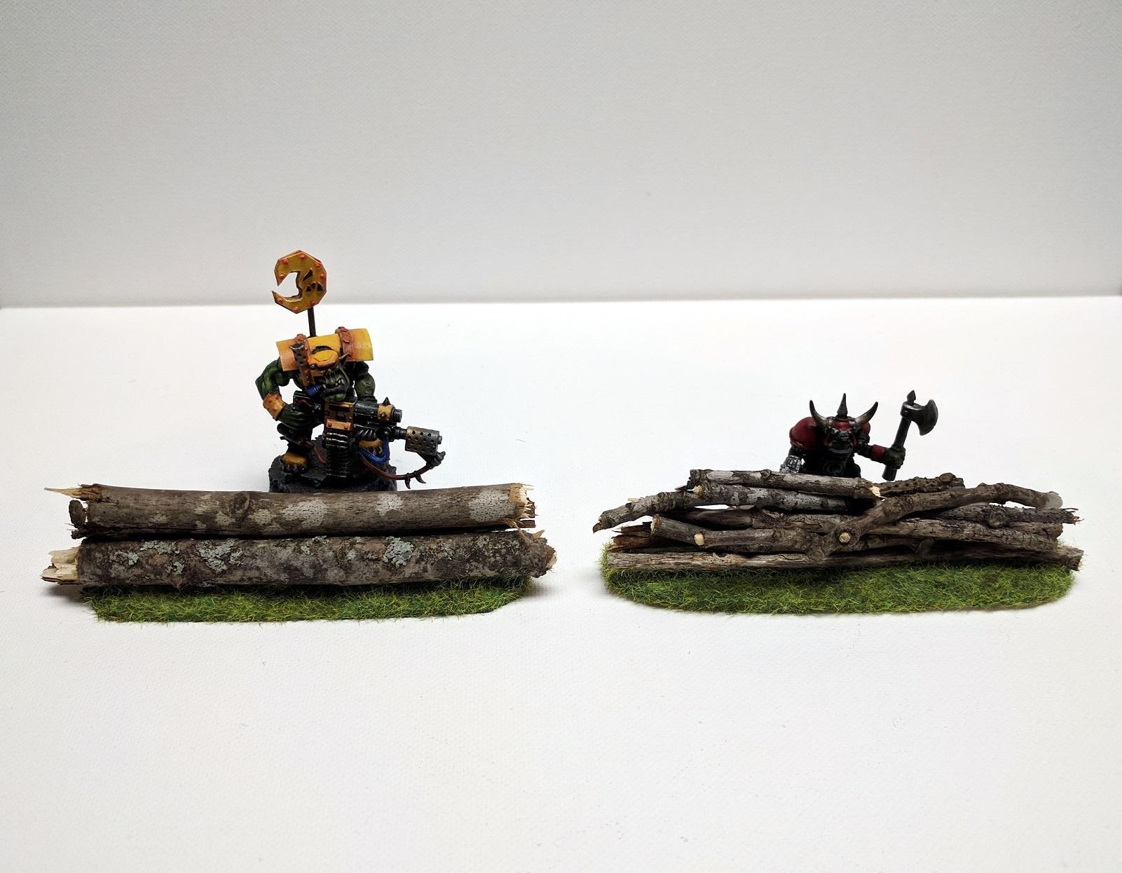Barricade, Custom, Logs, Orks, Scratch Build, Terrain