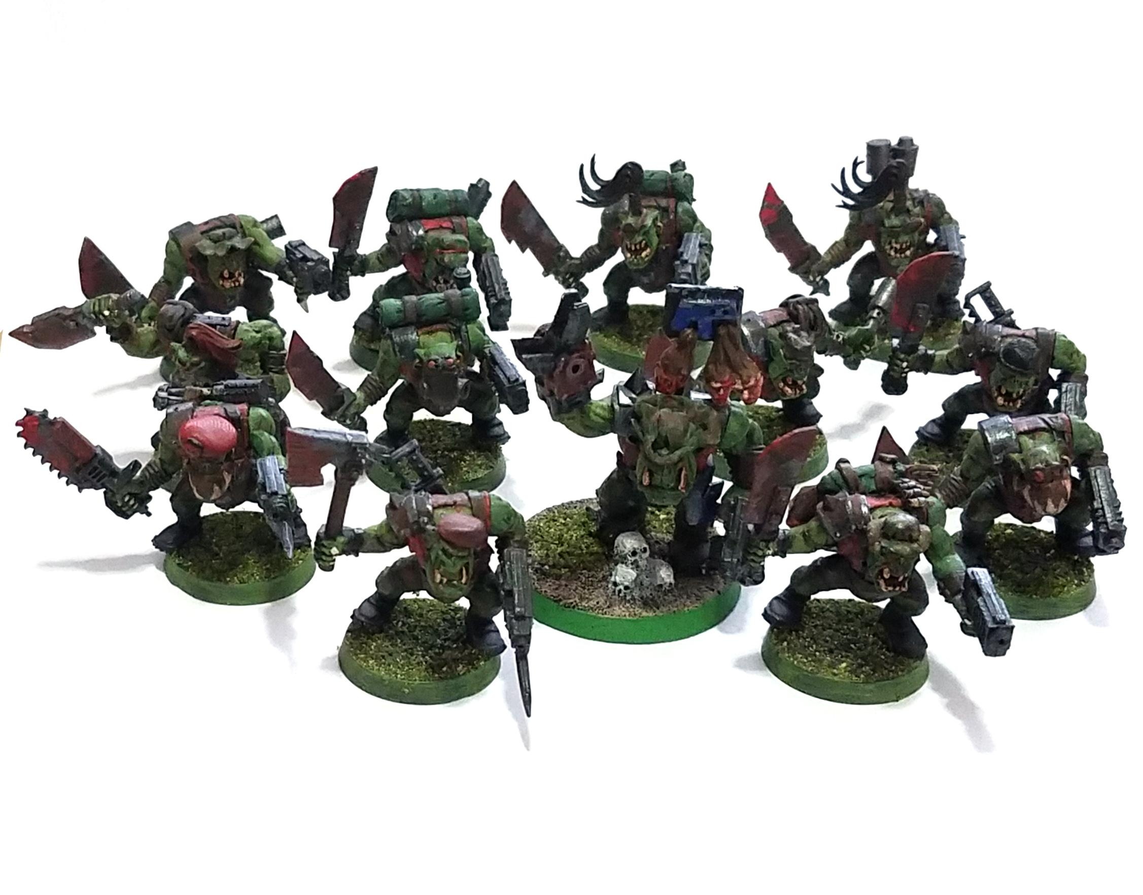 Blood Axe, Kommando, Mob, Nob, Power Klaw, Space Ork, Unit, Waaagh!