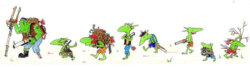Artwork, Cartoon, Comedy, Comic, Drawing, Fiction, Grots, Humour, Illustration, Ink, Orks, Sketch, Warhammer 40,000