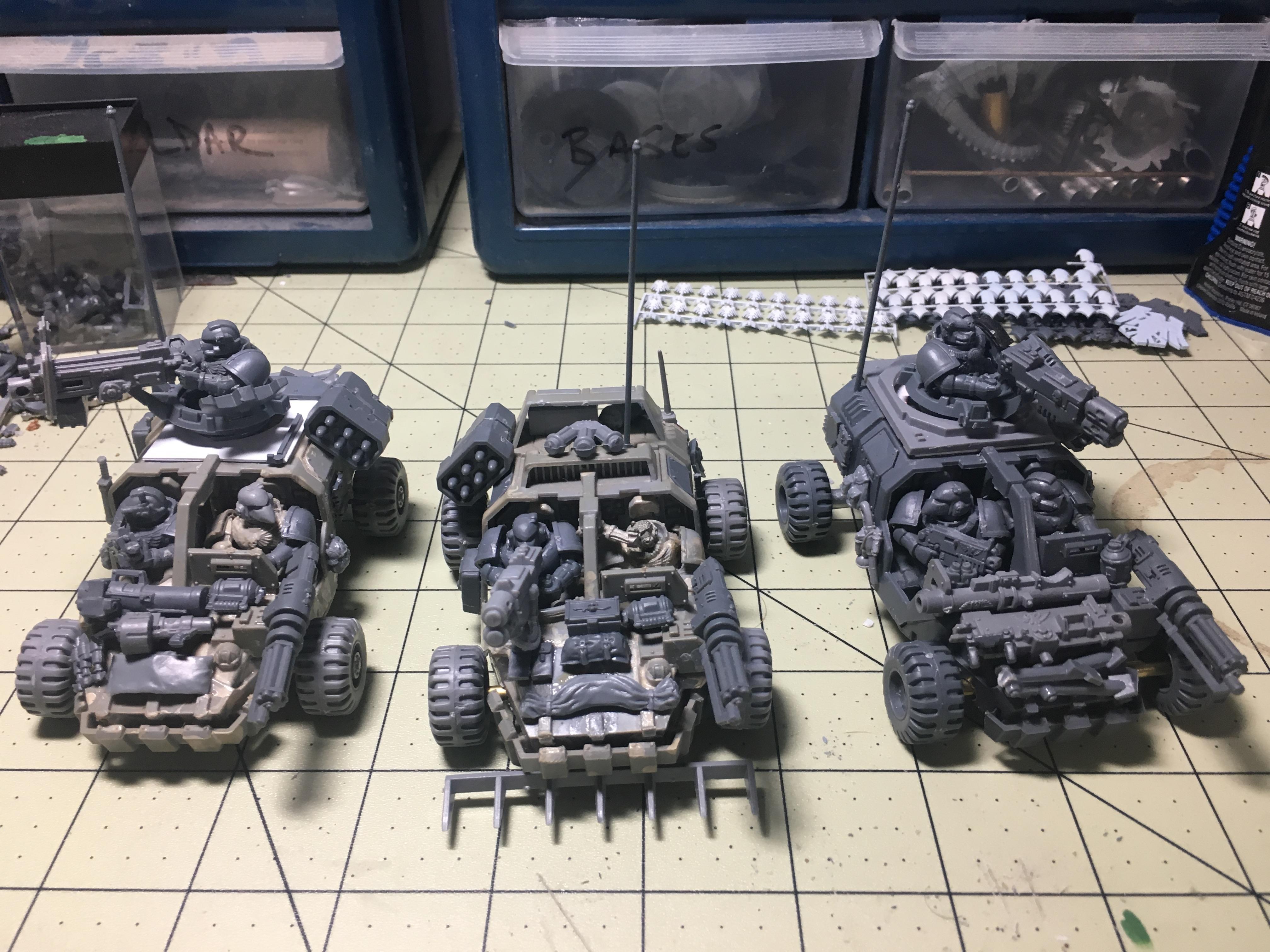 Jeep, Land Runner, Land Speeder, Space Marines